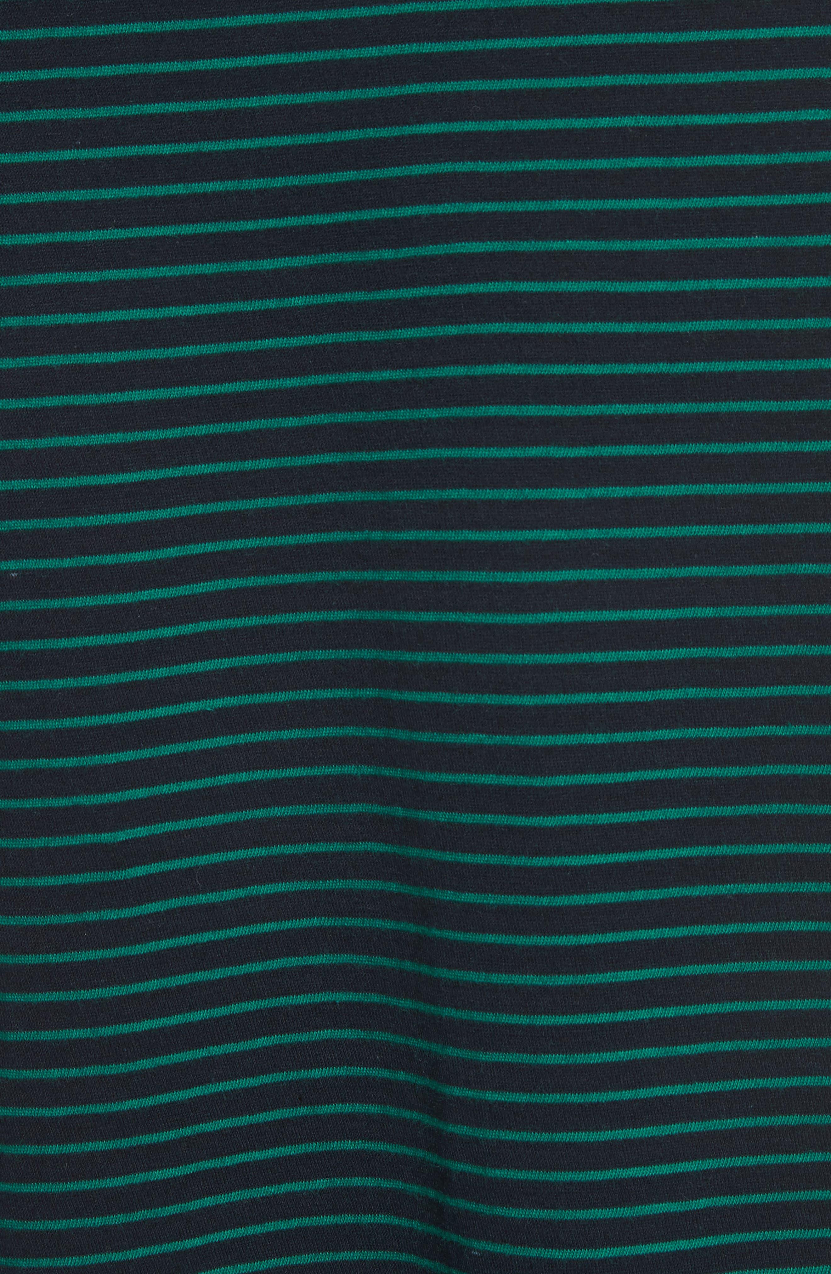Classic Stripe Boat Neck Cotton Top,                             Alternate thumbnail 5, color,                             398