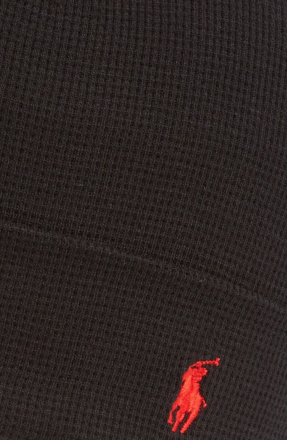 Thermal Cuff Cotton Cap,                             Alternate thumbnail 3, color,                             POLO BLACK