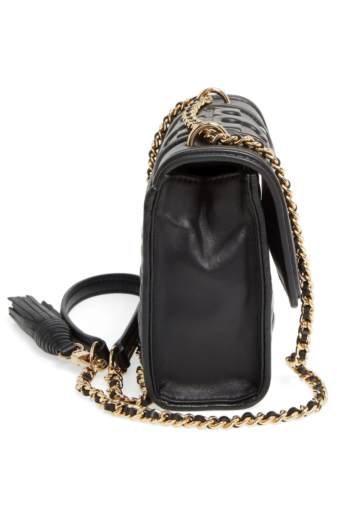 'Small Fleming' Quilted Leather Shoulder Bag,                             Alternate thumbnail 9, color,