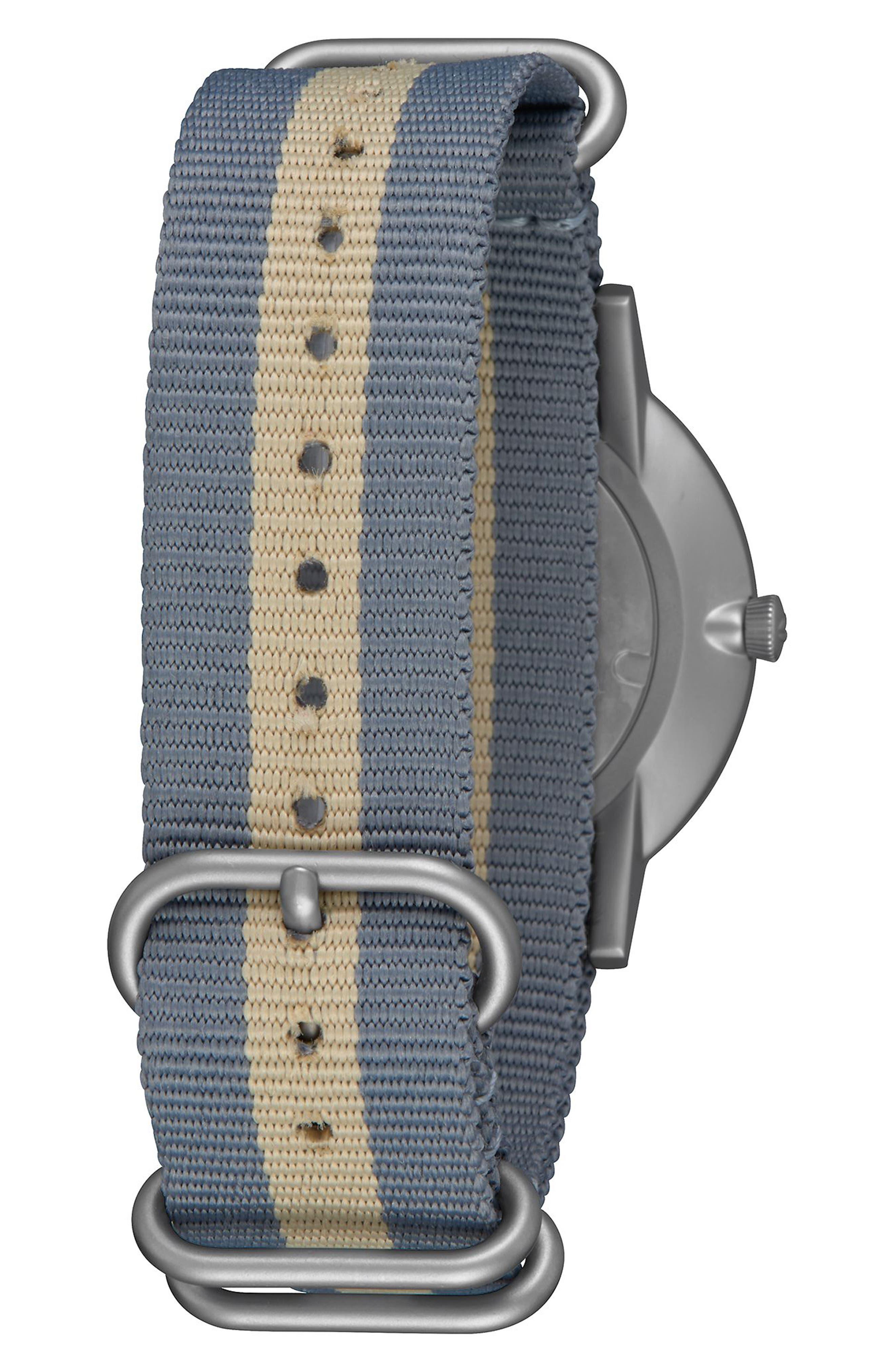 Porter Nylon Strap Watch, 40mm,                             Alternate thumbnail 8, color,