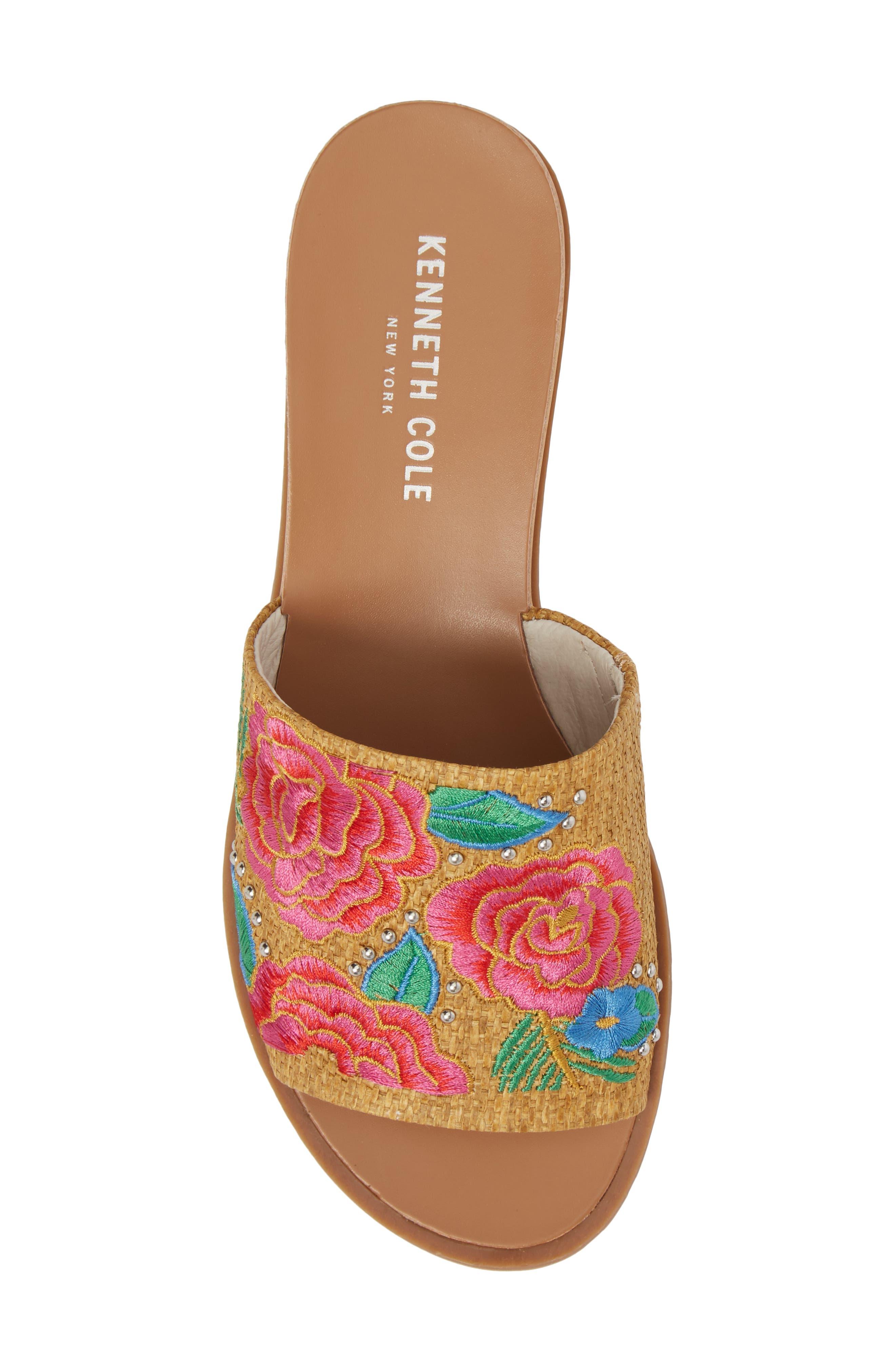 Joanne Flower Embroidered Slide Sandal,                             Alternate thumbnail 29, color,