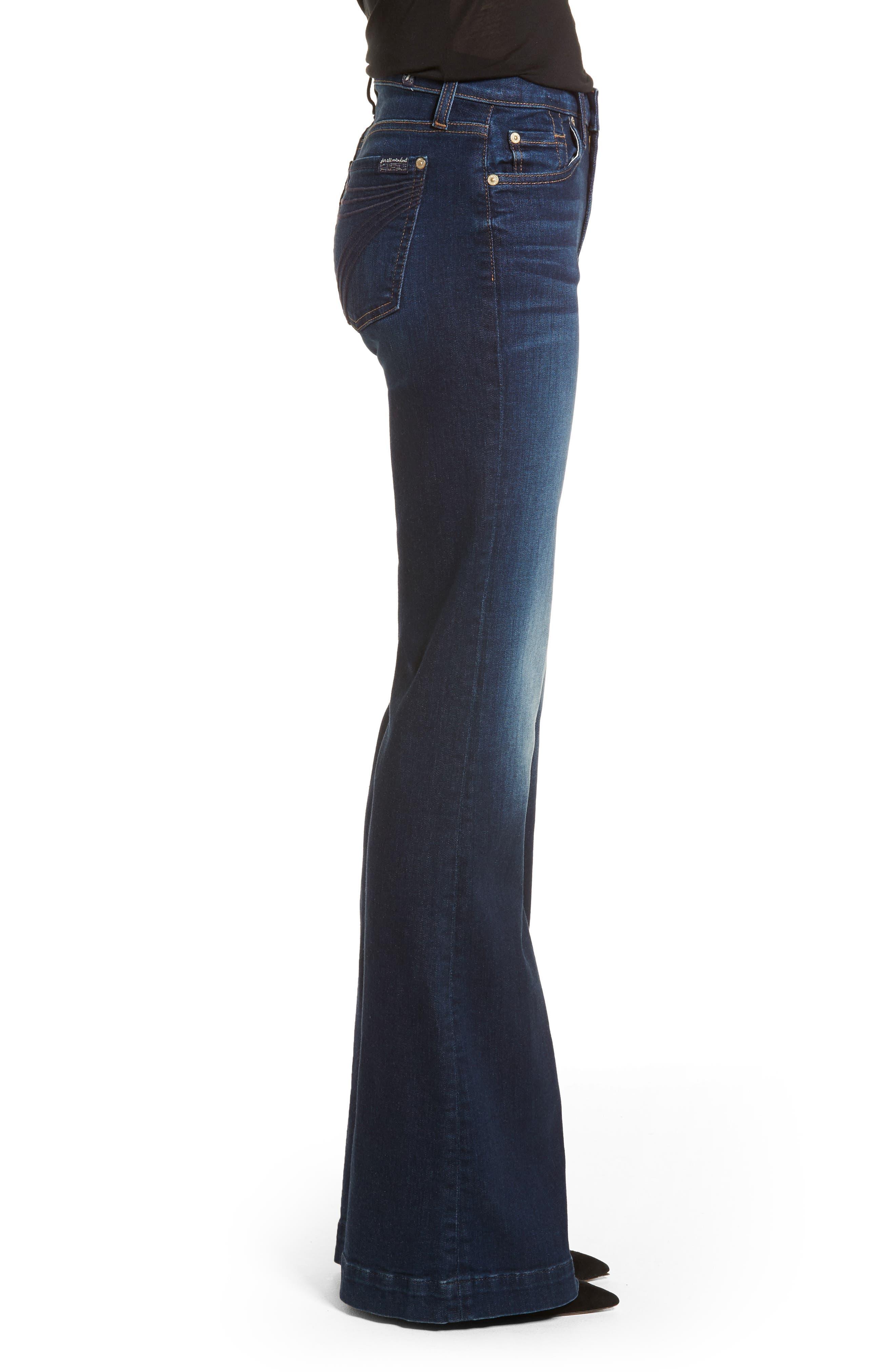 Dojo Wide Leg Jeans,                             Alternate thumbnail 3, color,                             MORENO