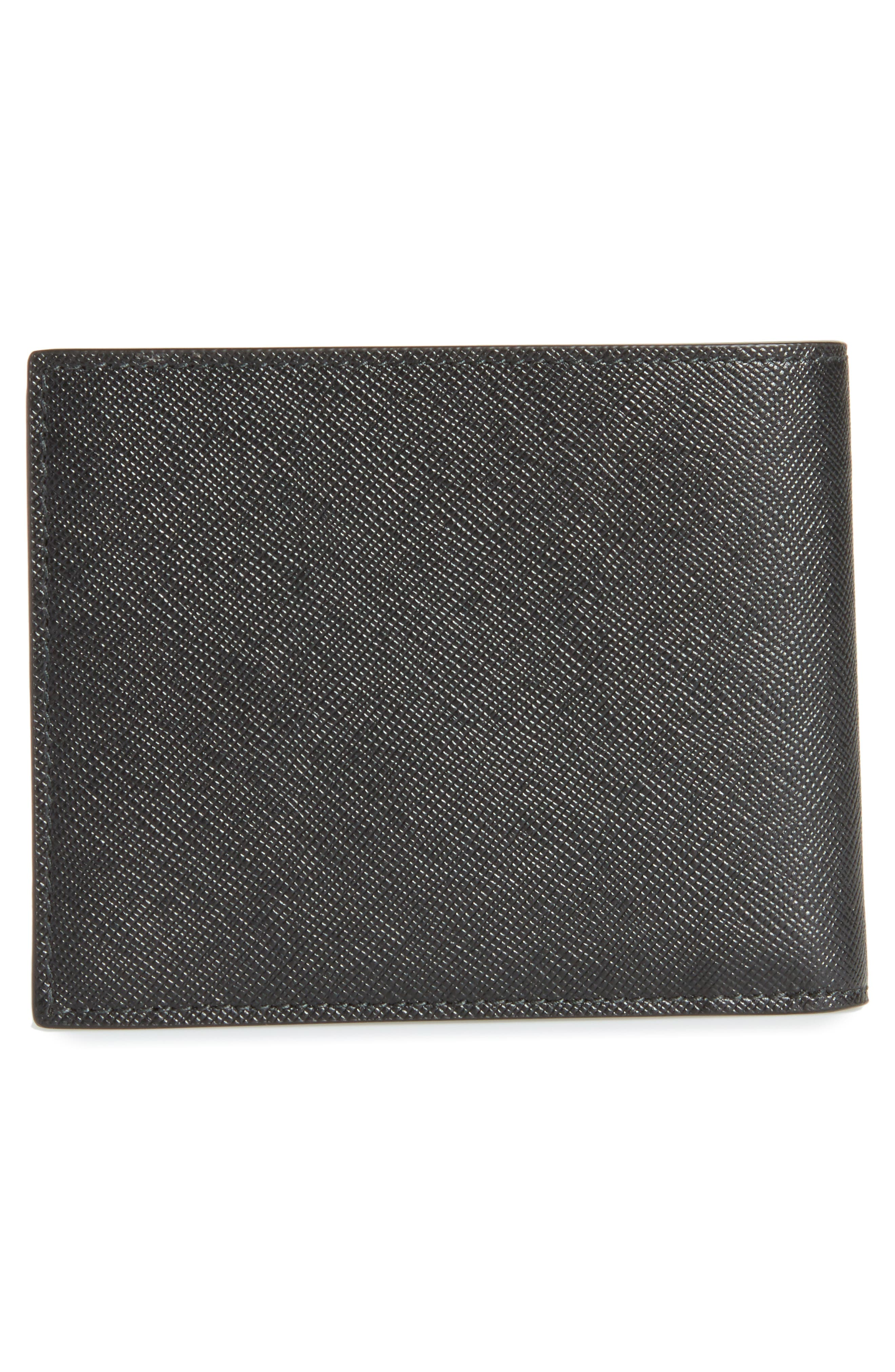 Sartorial Leather Bifold Wallet,                             Alternate thumbnail 3, color,                             001