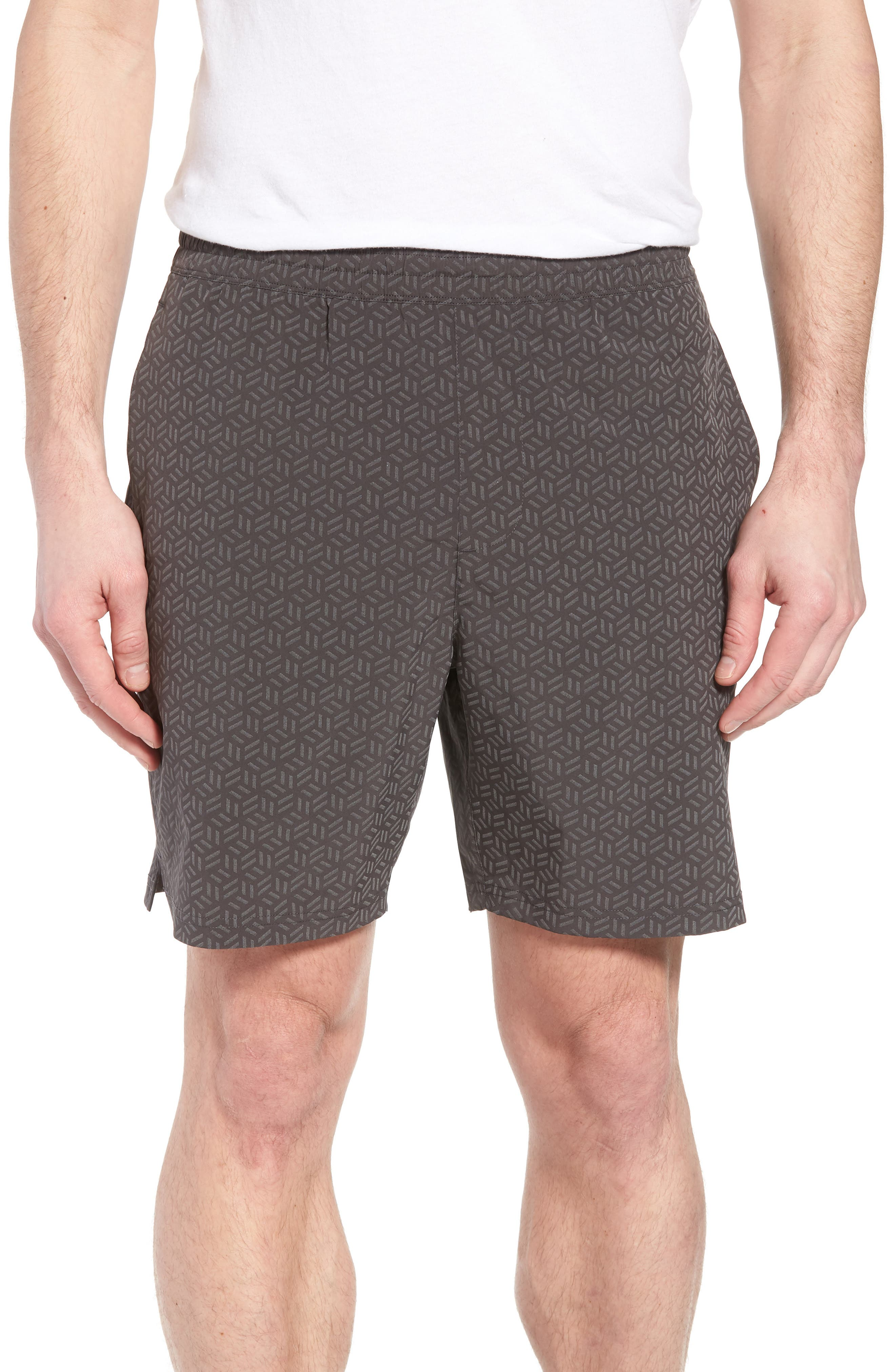 Stretch Shorts,                             Main thumbnail 1, color,                             REFLECTIVE CUBE GEO
