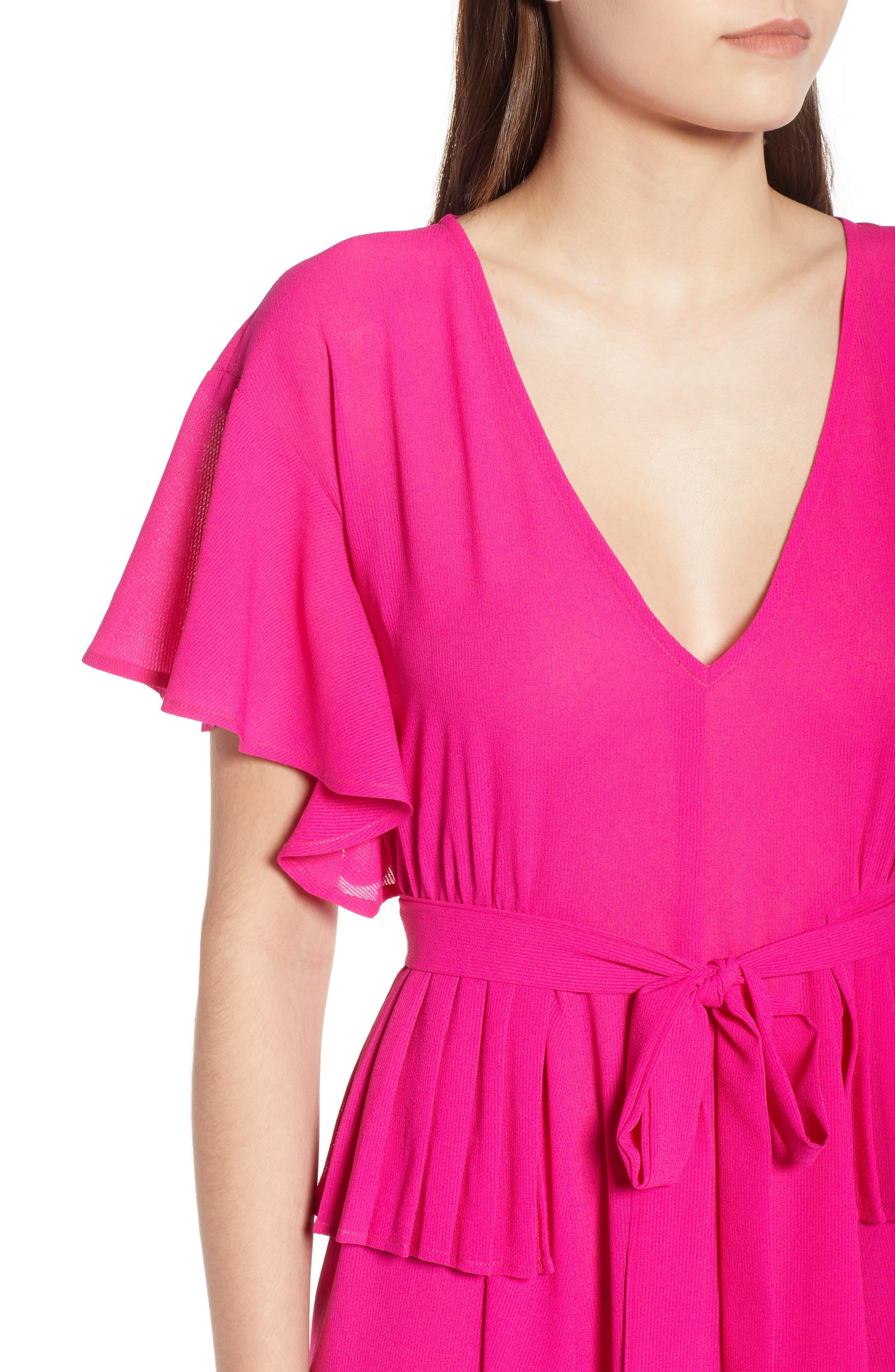 Chiffon Midi Dress,                             Alternate thumbnail 4, color,                             650