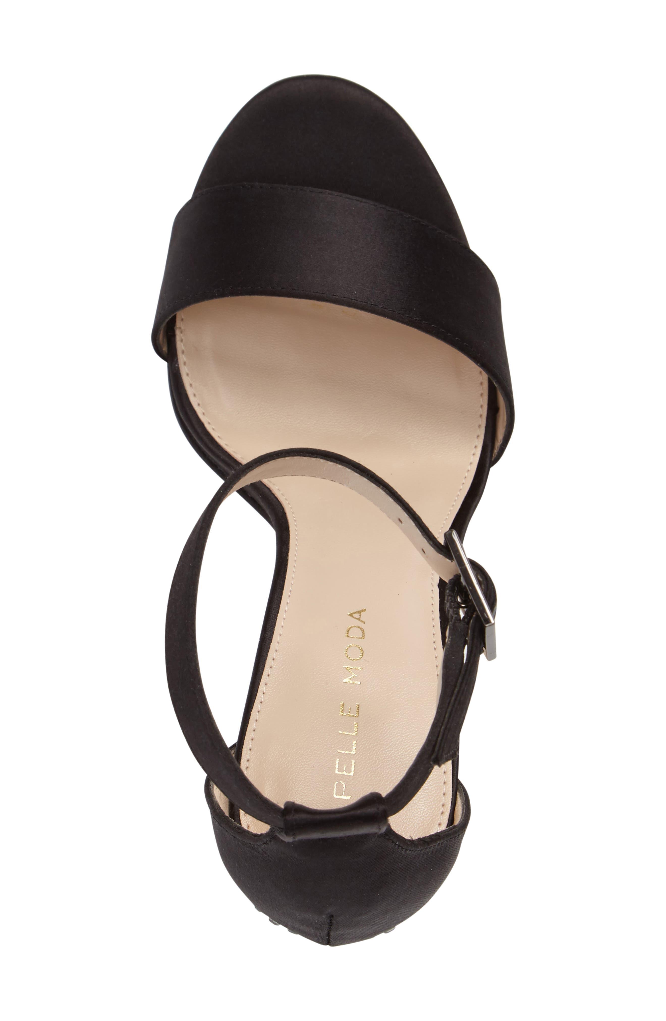 Bonnie 3 Embellished Ankle Strap Sandal,                             Alternate thumbnail 3, color,                             001