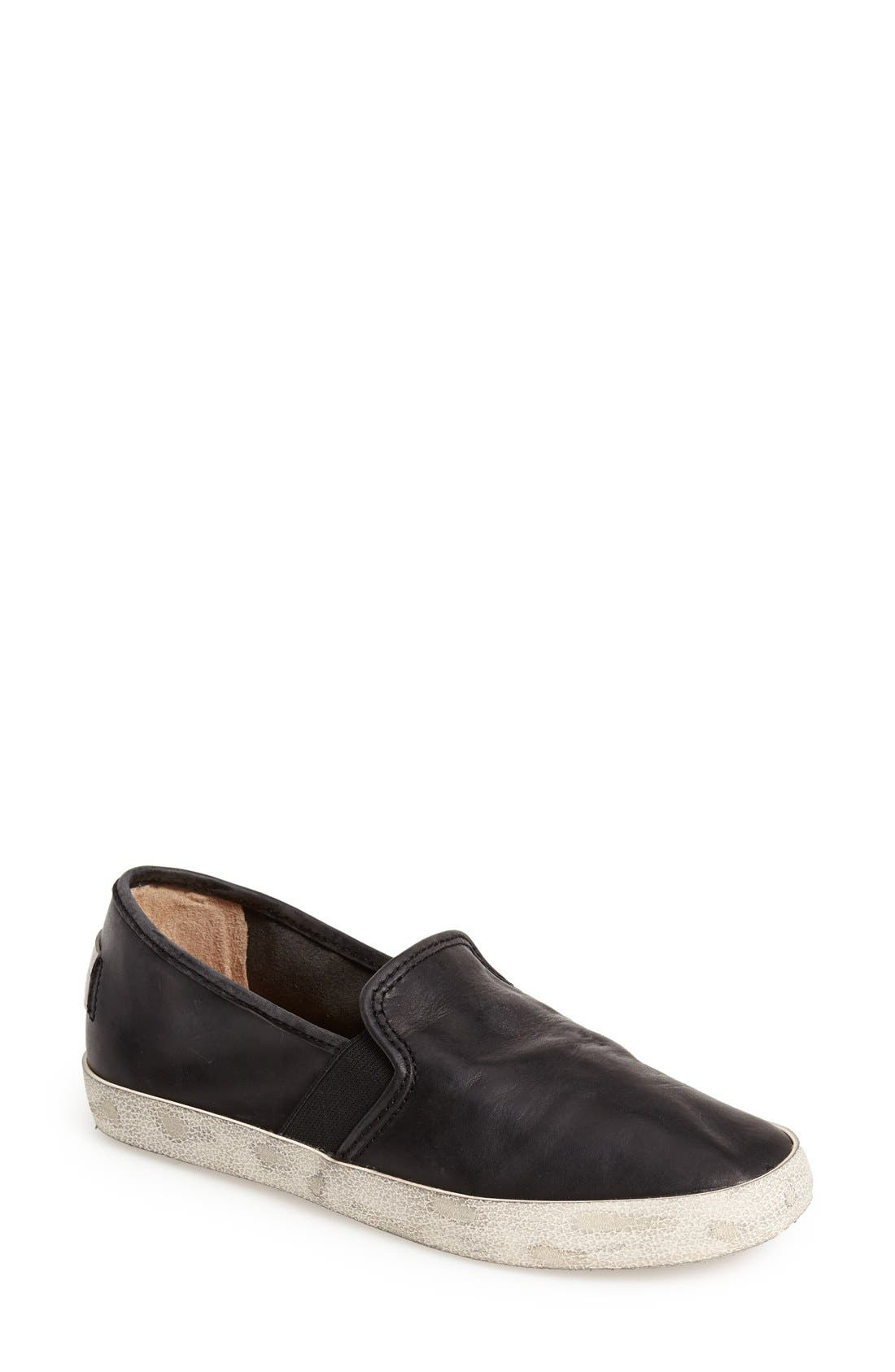 'Dylan' Leather Slip-On Sneaker, Main, color, 001