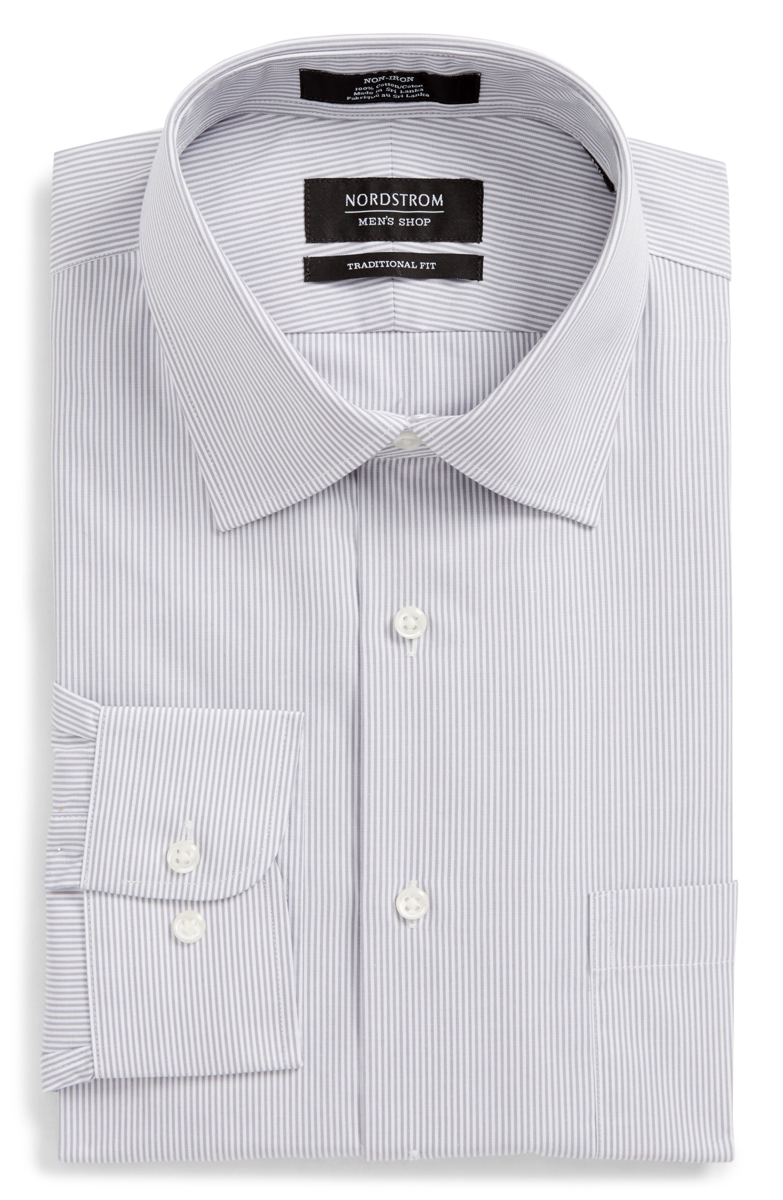Smartcare<sup>™</sup> Traditional Fit Stripe Dress Shirt,                             Alternate thumbnail 5, color,                             051