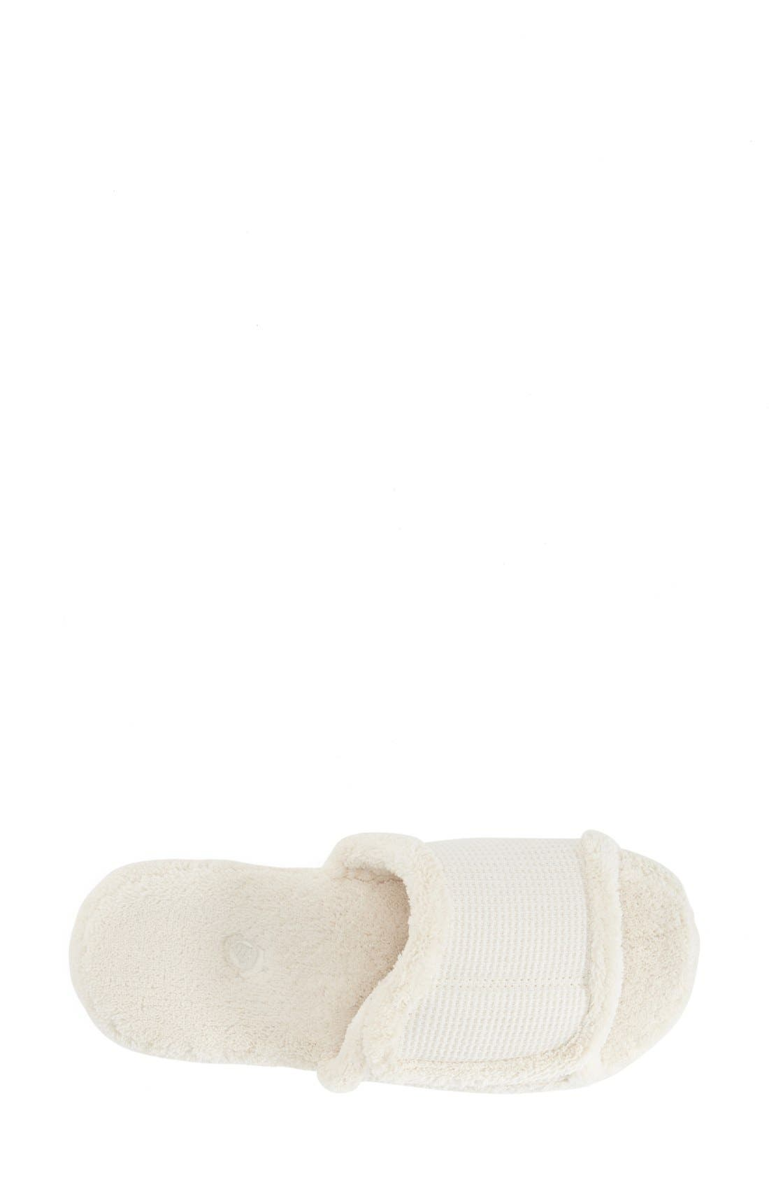 'Waffle Spa Slide' Slipper,                             Alternate thumbnail 3, color,                             NATURAL