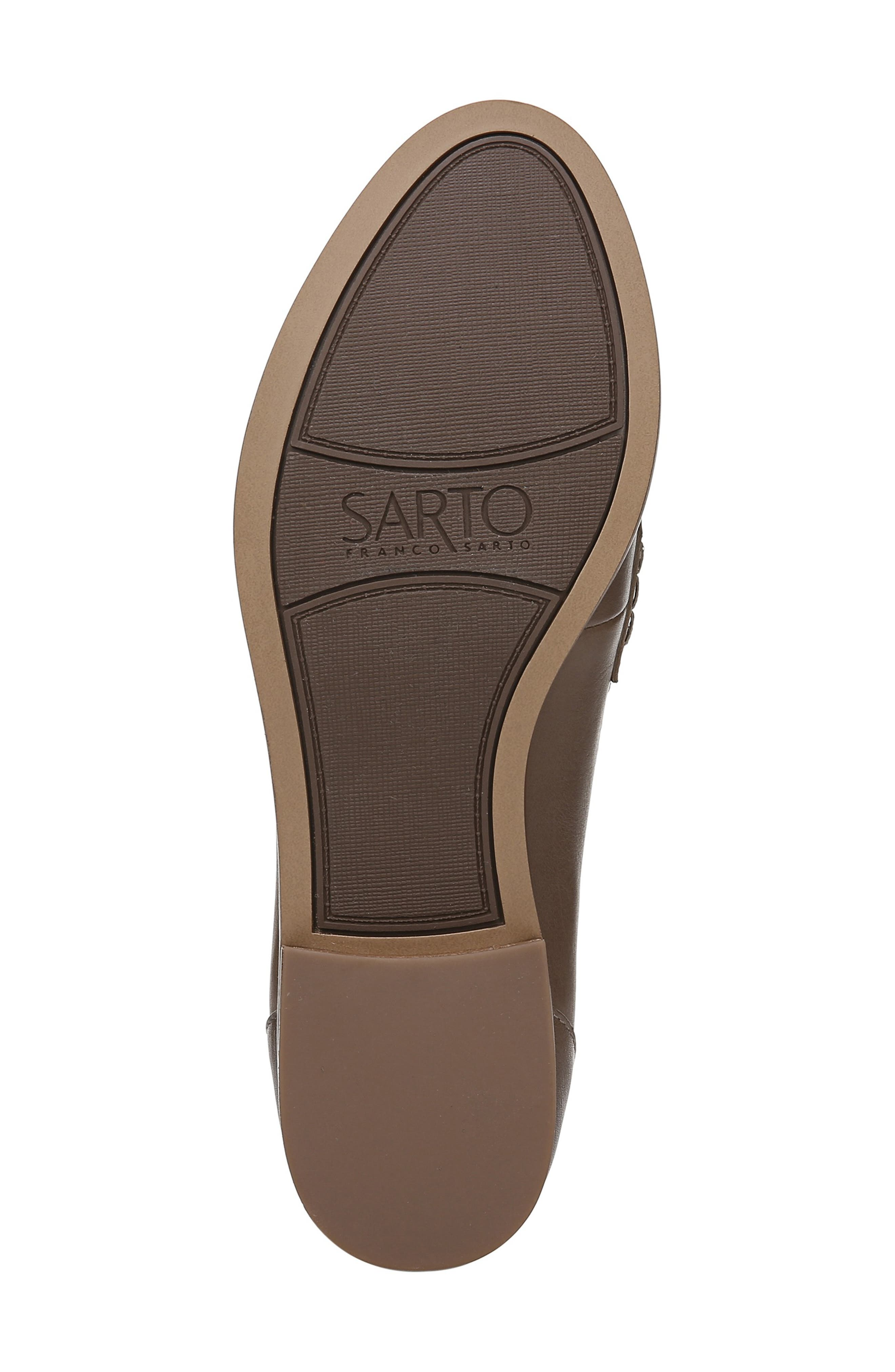SARTO BY FRANCO SARTO,                             'Jolette' Penny Loafer,                             Alternate thumbnail 6, color,                             DARK PUTTY LEATHER