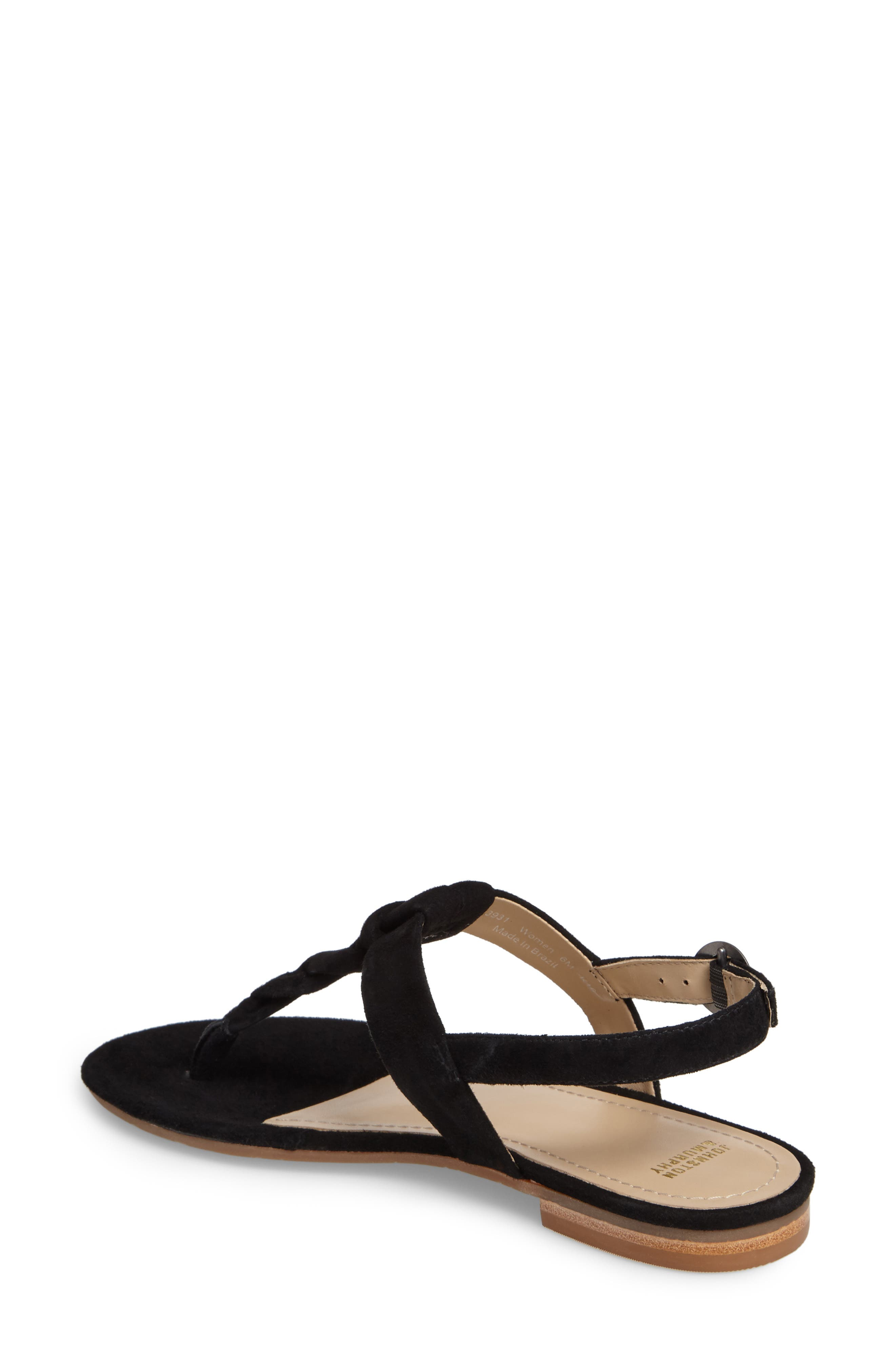 Holly Twisted T-Strap Sandal,                             Alternate thumbnail 2, color,                             001