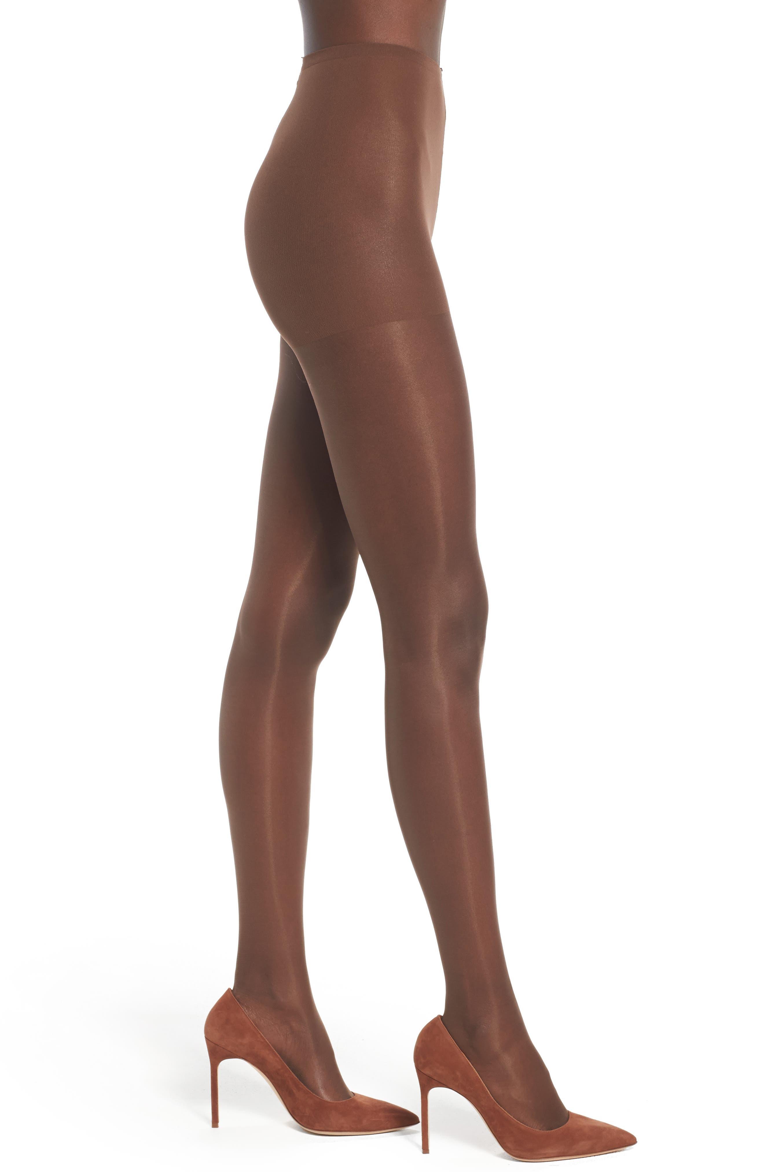 NUBIAN SKIN Glossy Sheer Pantyhose, Main, color, 200