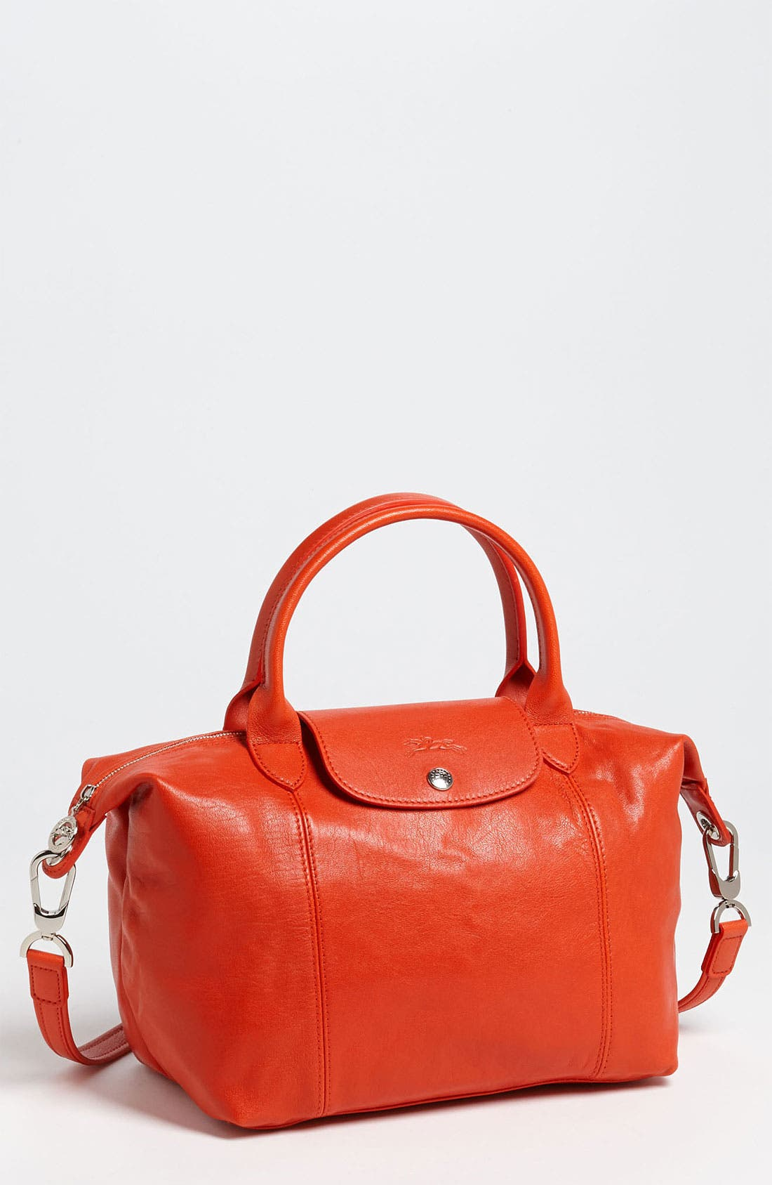 Small 'Le Pliage Cuir' Leather Top Handle Tote,                             Main thumbnail 20, color,