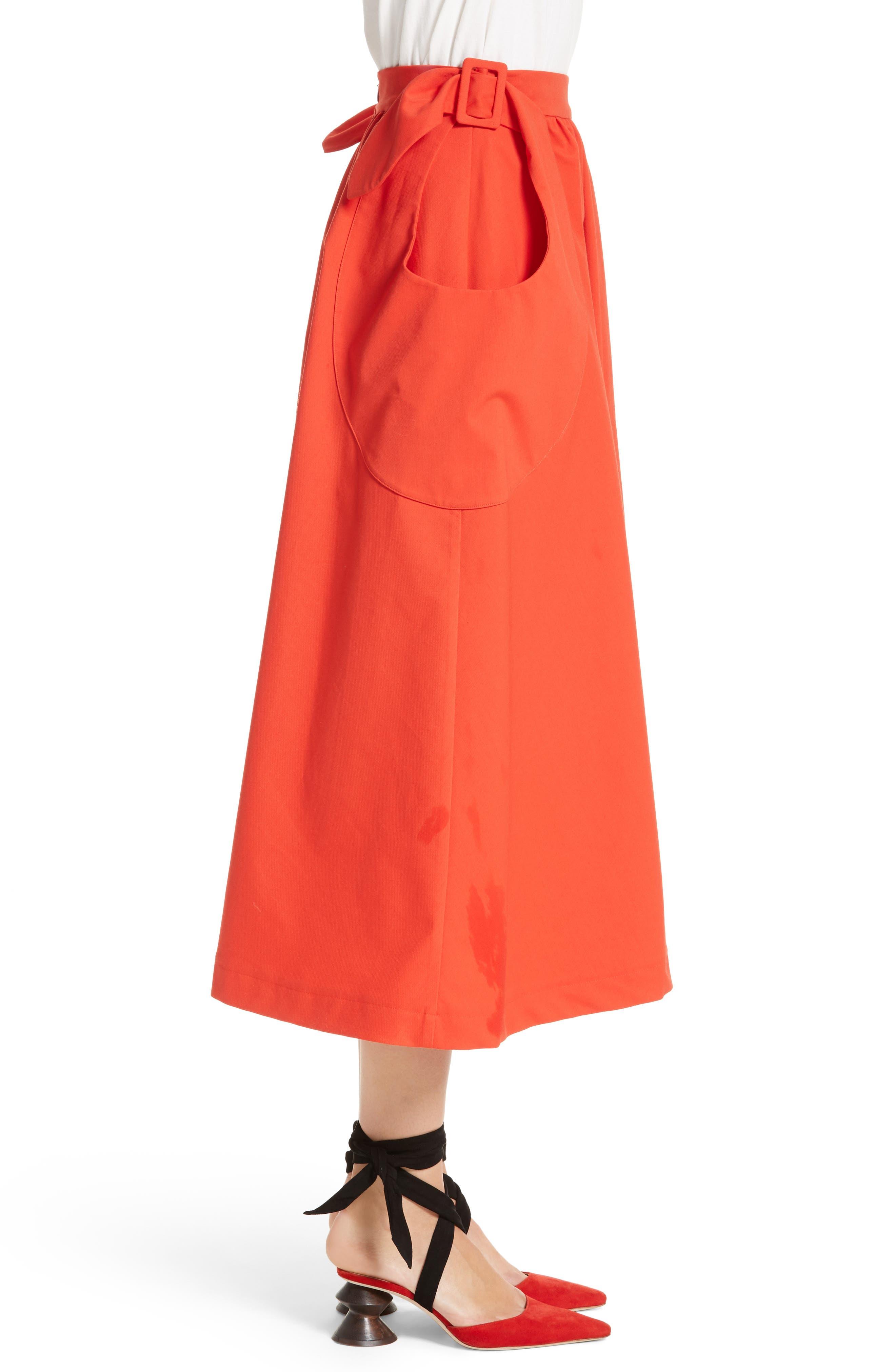 Belted Pocket Skirt,                             Alternate thumbnail 3, color,                             610
