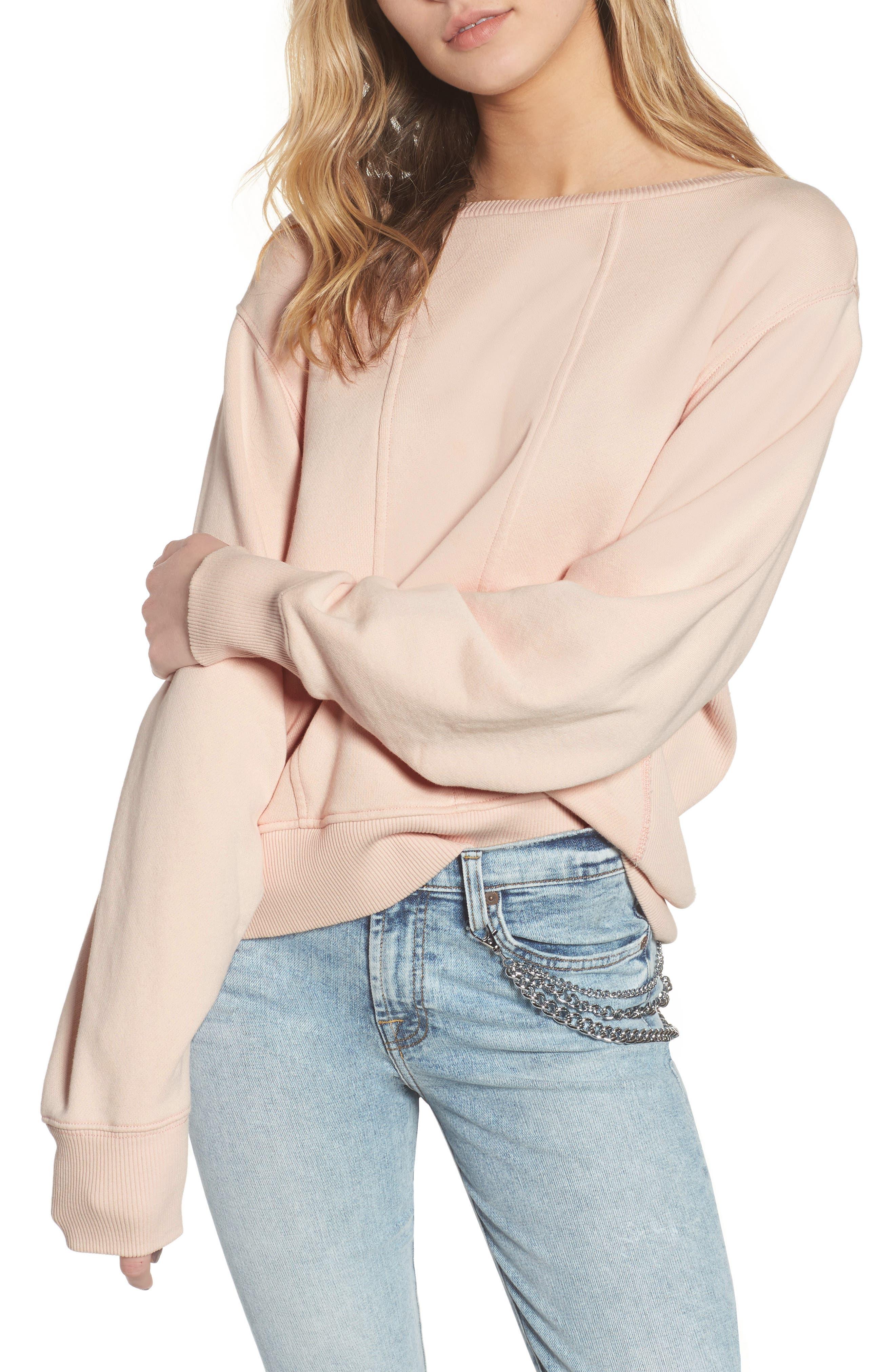 Seamed Sweatshirt,                         Main,                         color,