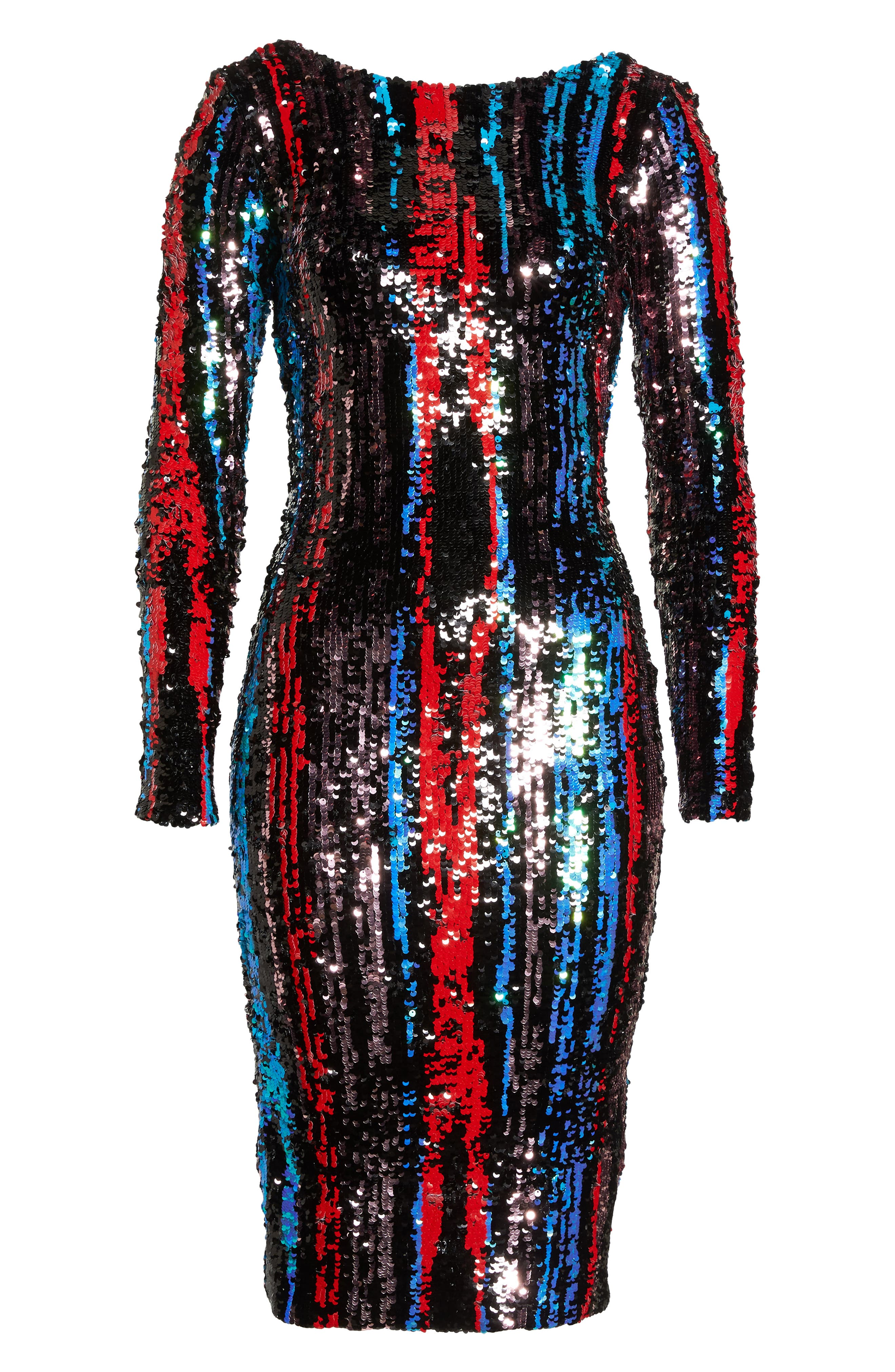 Emery Scoop Back Dress,                             Alternate thumbnail 9, color,                             ROUGE RED MULTI