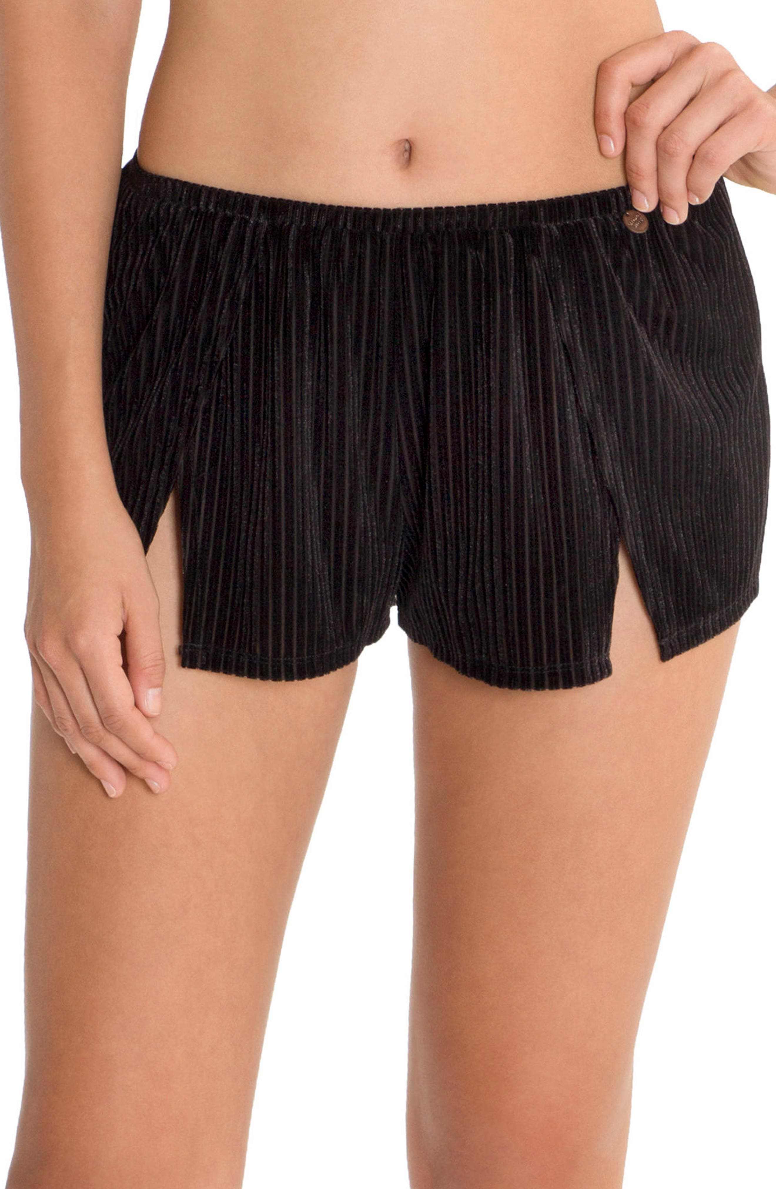 Velvet Pajama Shorts,                         Main,                         color,