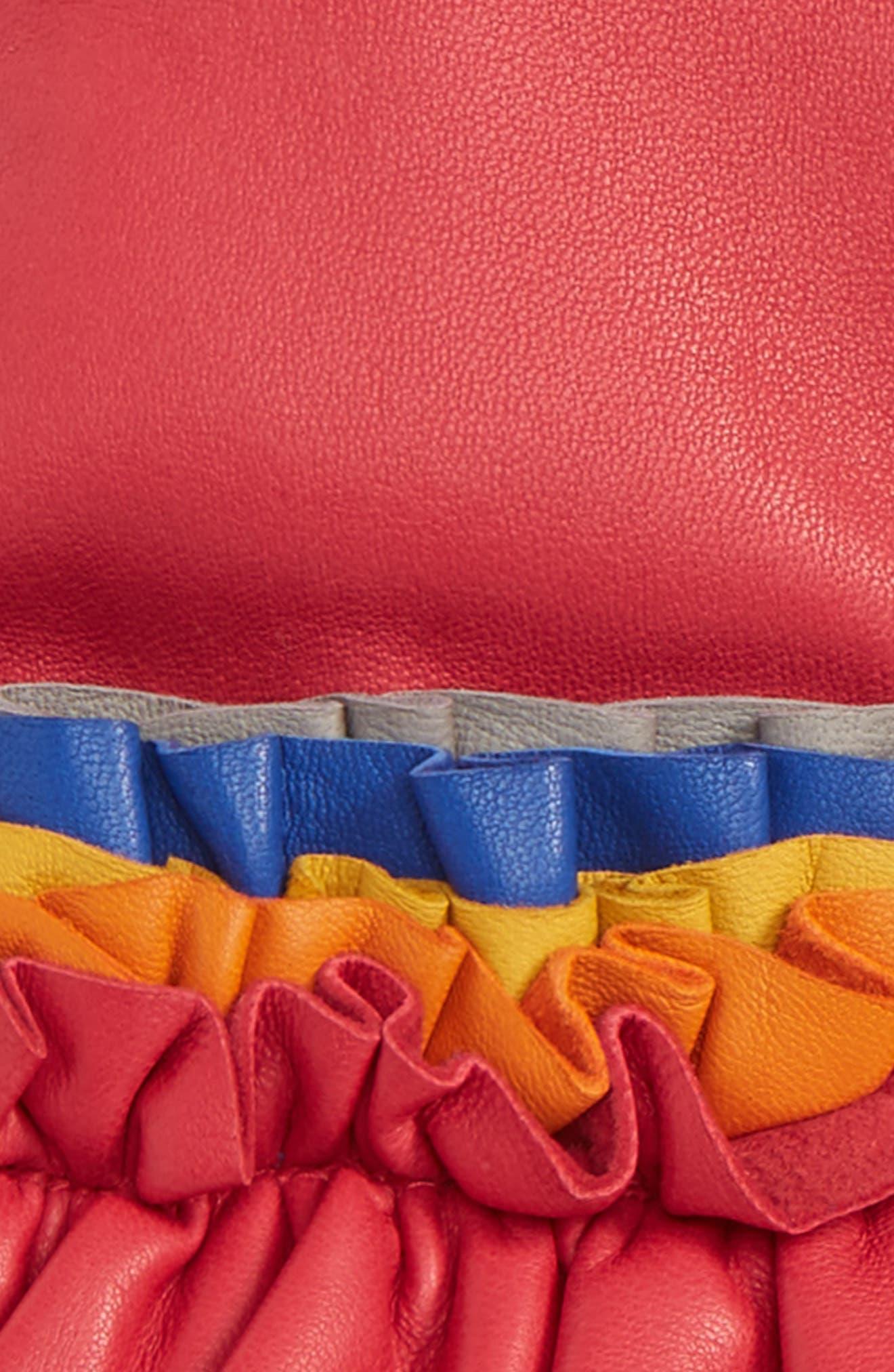 Ruffle Lambskin Leather Gloves,                             Alternate thumbnail 2, color,                             650
