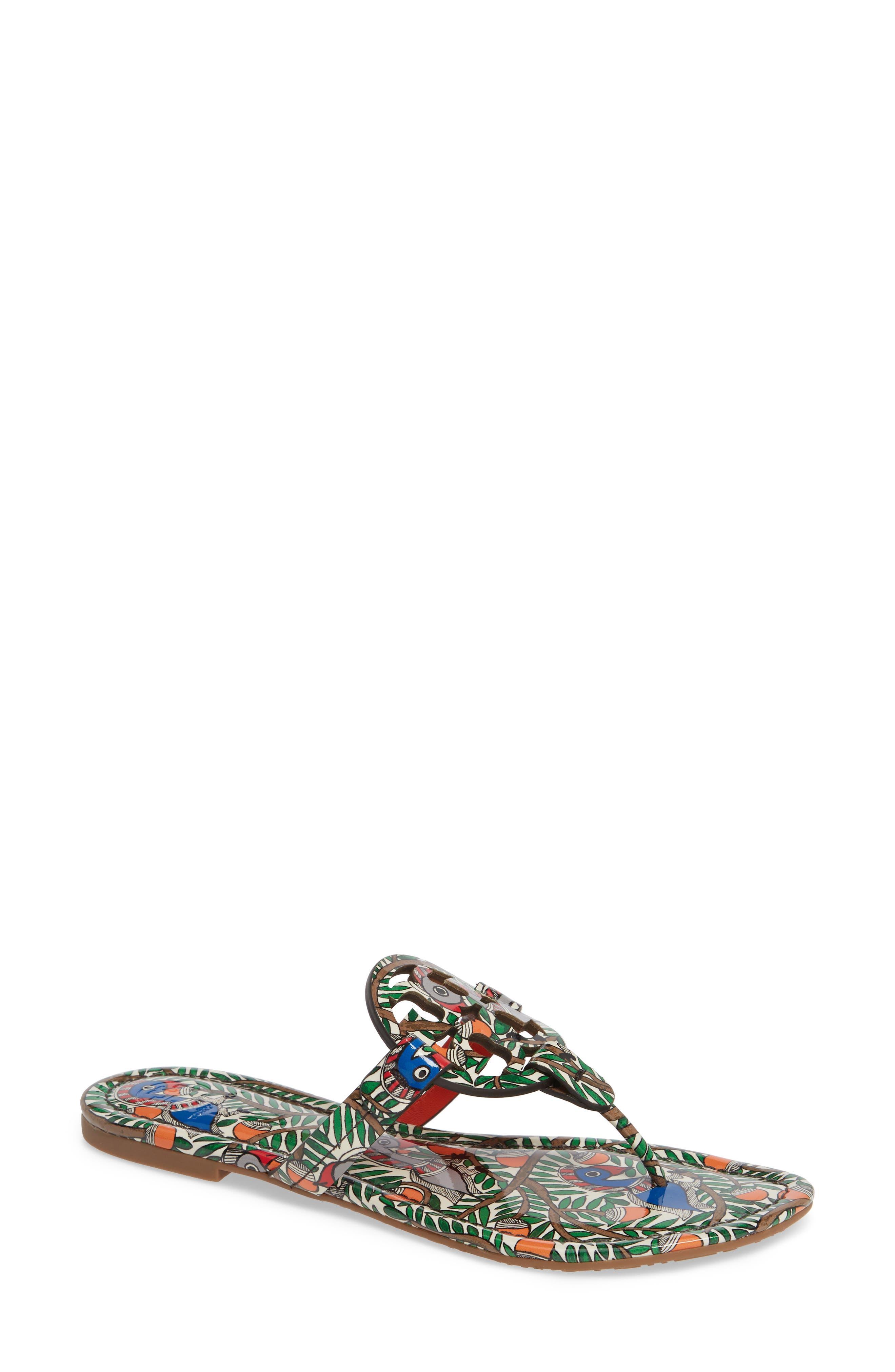 TORY BURCH Miller Flip Flop, Main, color, ORANGE SOMETHING WILD