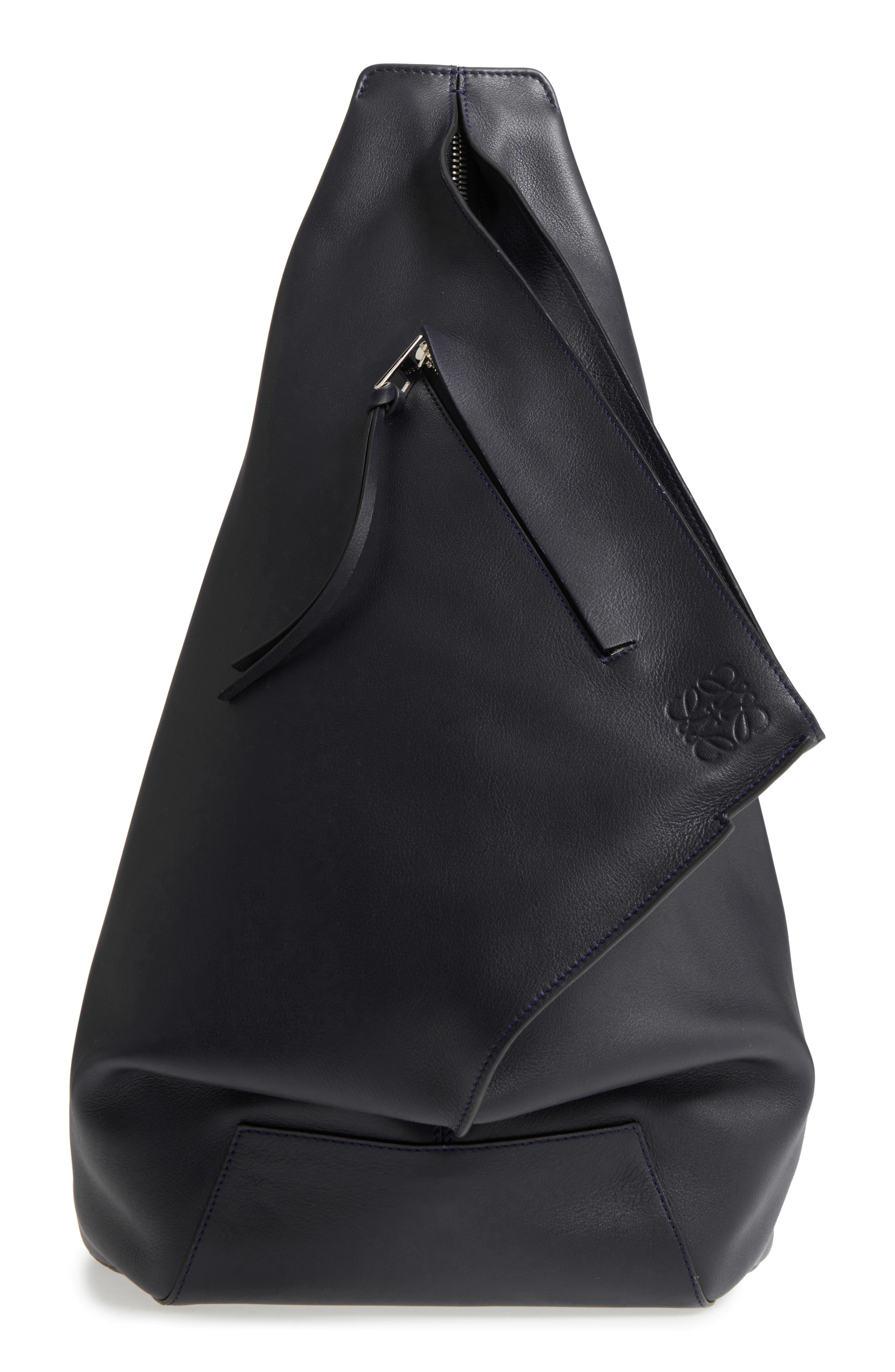 Anton Leather Sling Pack,                             Main thumbnail 1, color,                             001