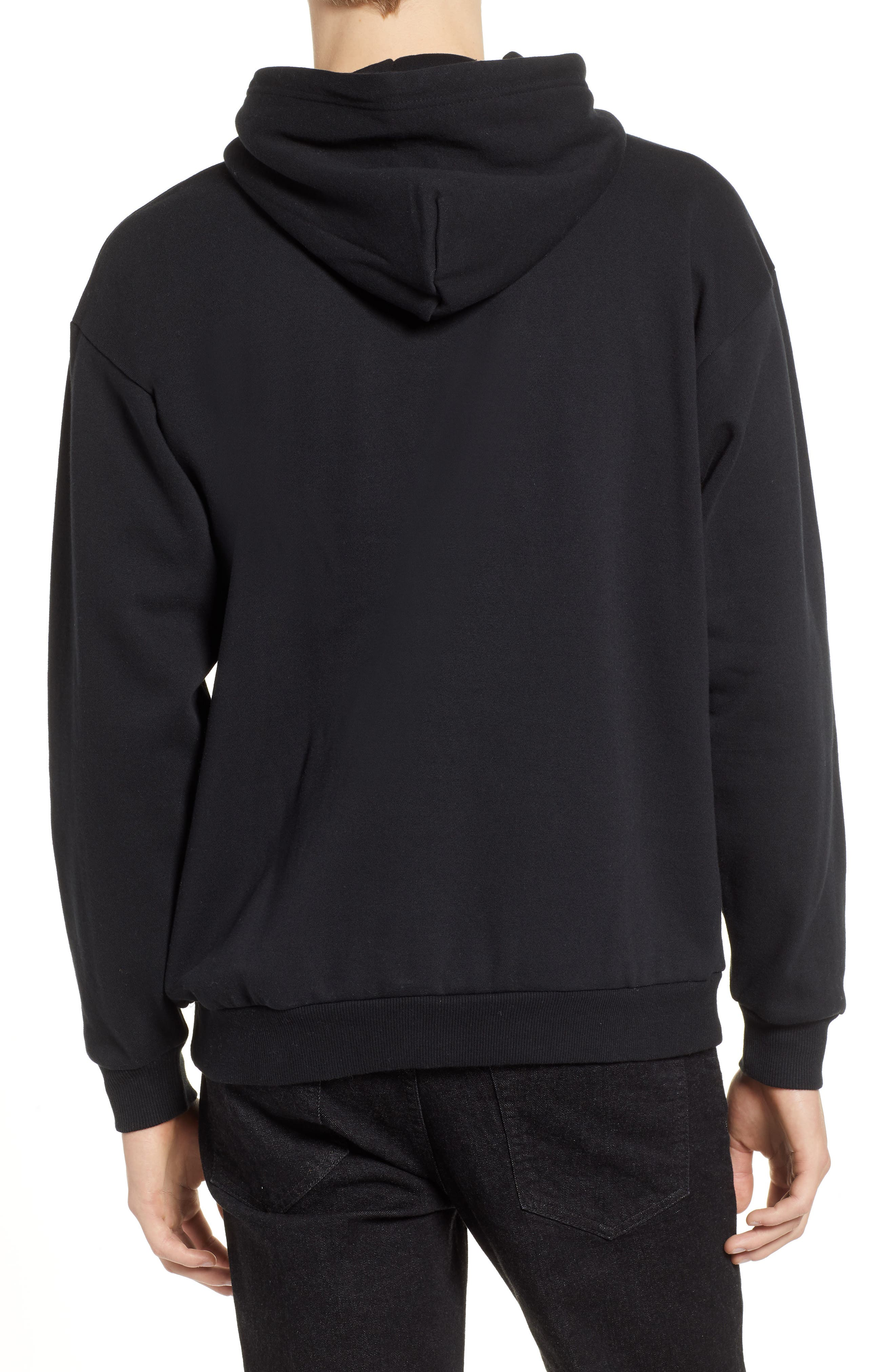 Forte Hooded Sweatshirt,                             Alternate thumbnail 2, color,                             BLACK