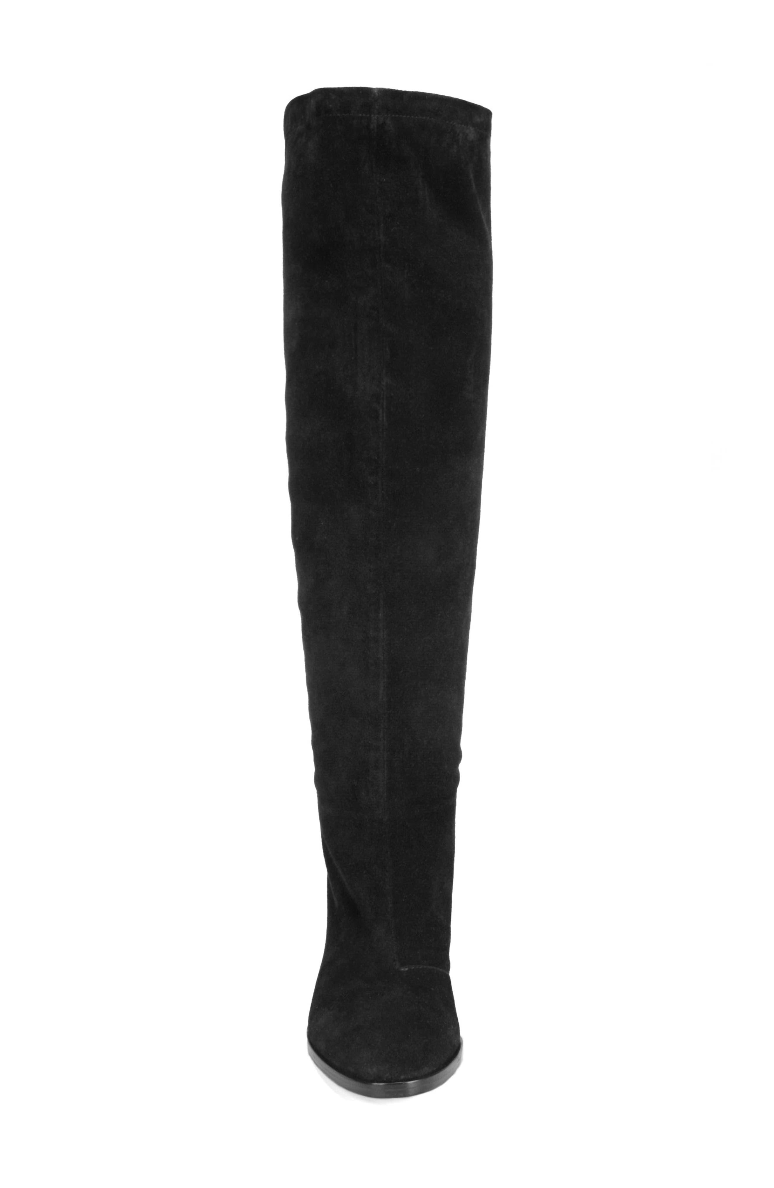 Casper Knee High Pull-On Boot,                             Alternate thumbnail 4, color,                             BLACK