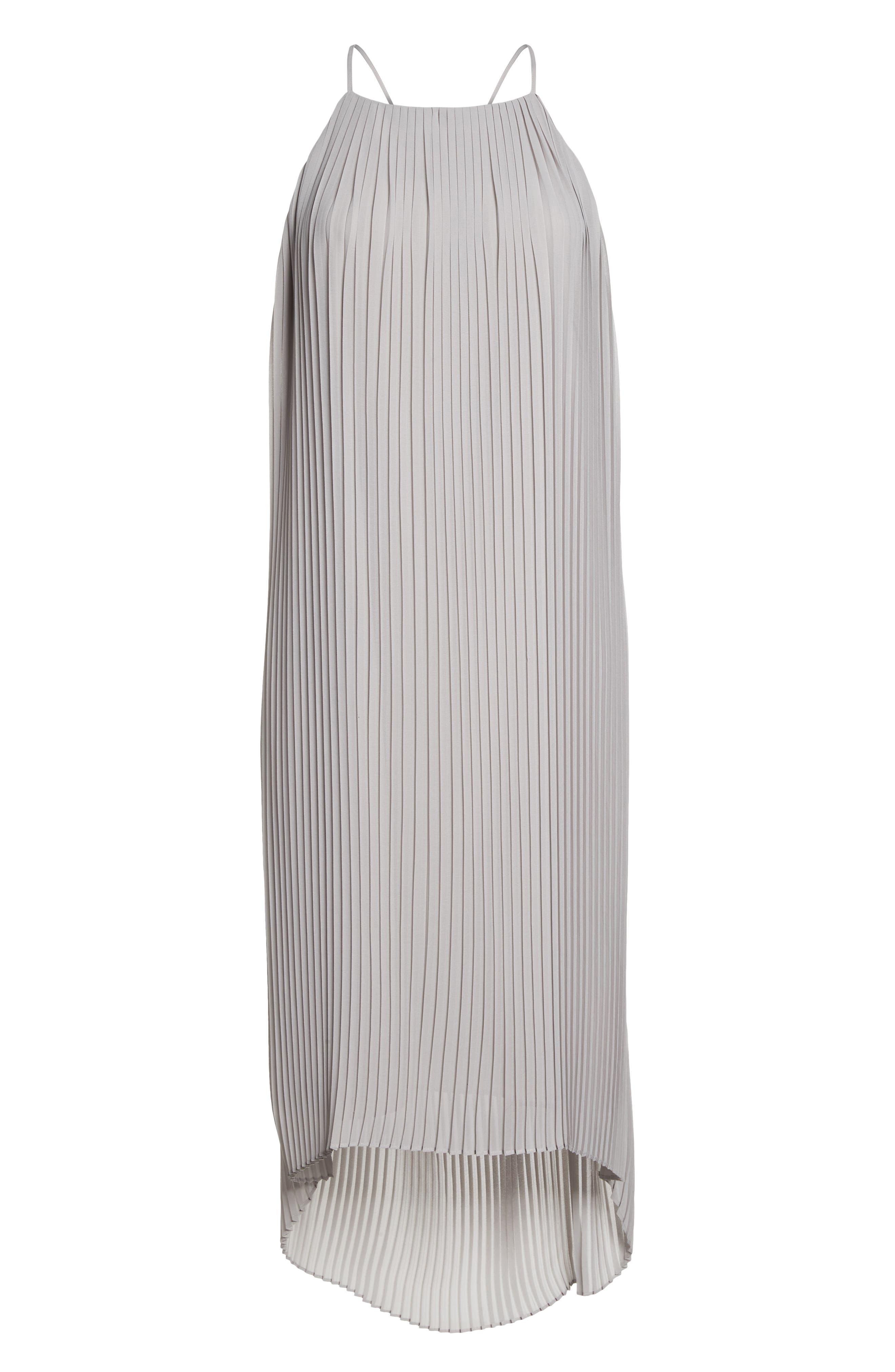 SAM EDELMAN,                             Pleated Midi Dress,                             Alternate thumbnail 7, color,                             077