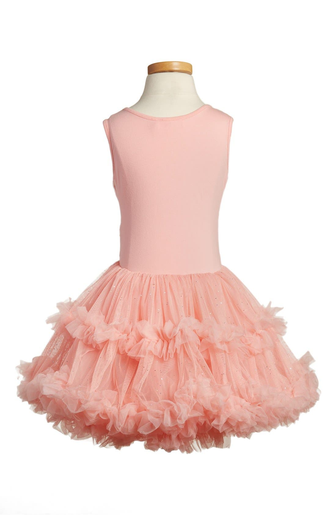 'Butterfly' Sleeveless Party Dress,                             Alternate thumbnail 3, color,                             PEACH