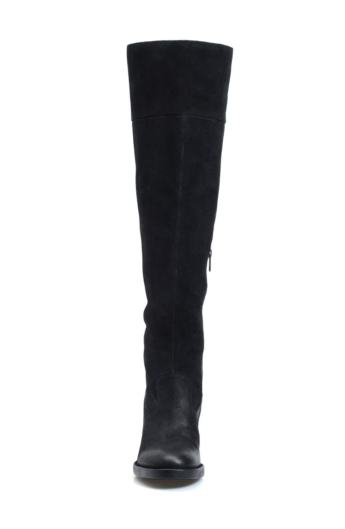 'Kathleen' Over the Knee Boot,                             Alternate thumbnail 3, color,                             001