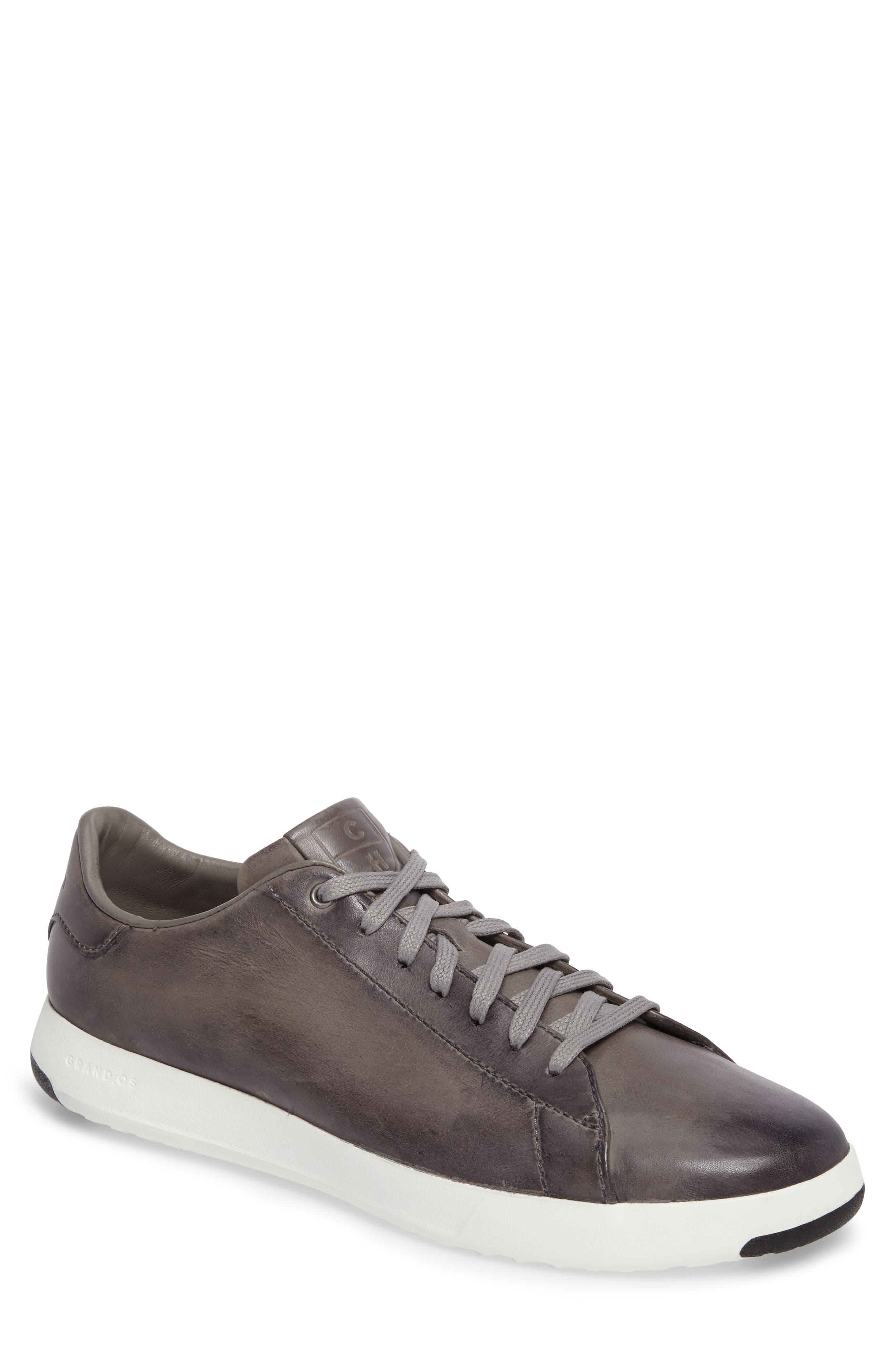 GrandPro Tennis Sneaker,                         Main,                         color, IRONSTONE GRAY HANDSTAIN