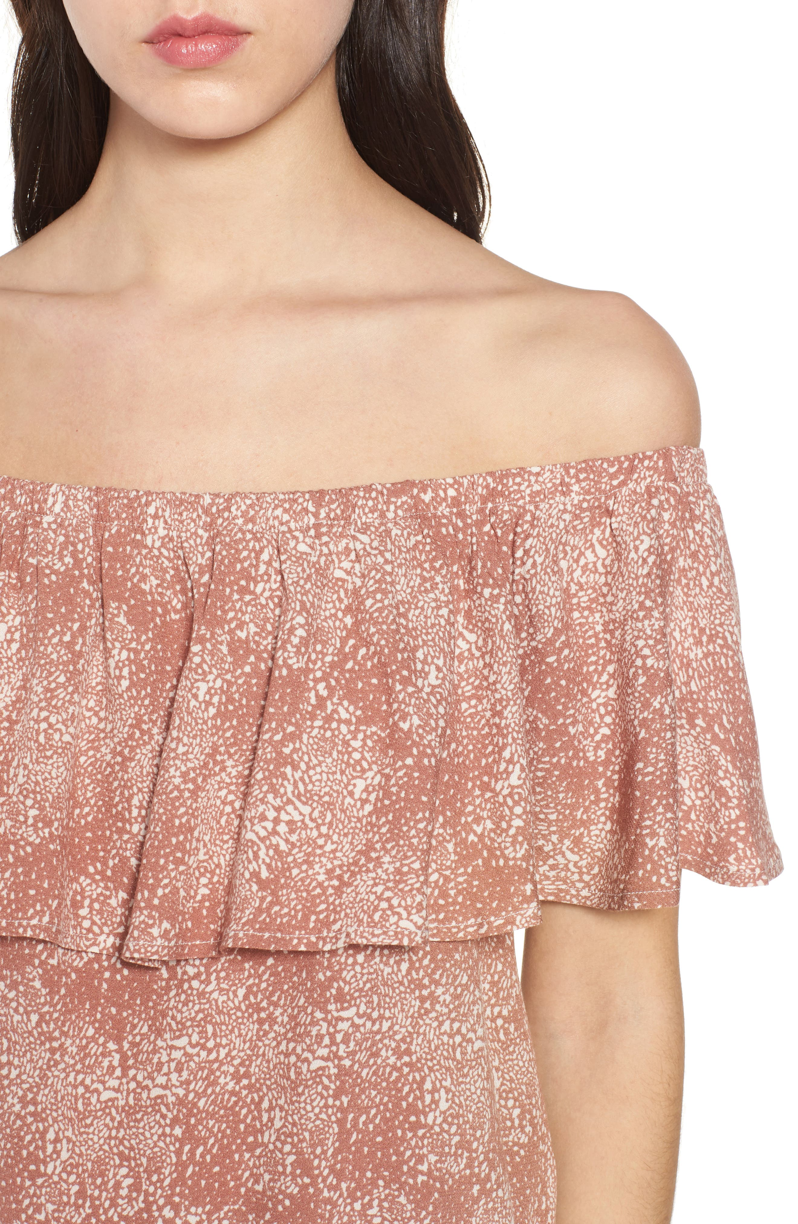 Mary Off the Shoulder Top,                             Alternate thumbnail 9, color,