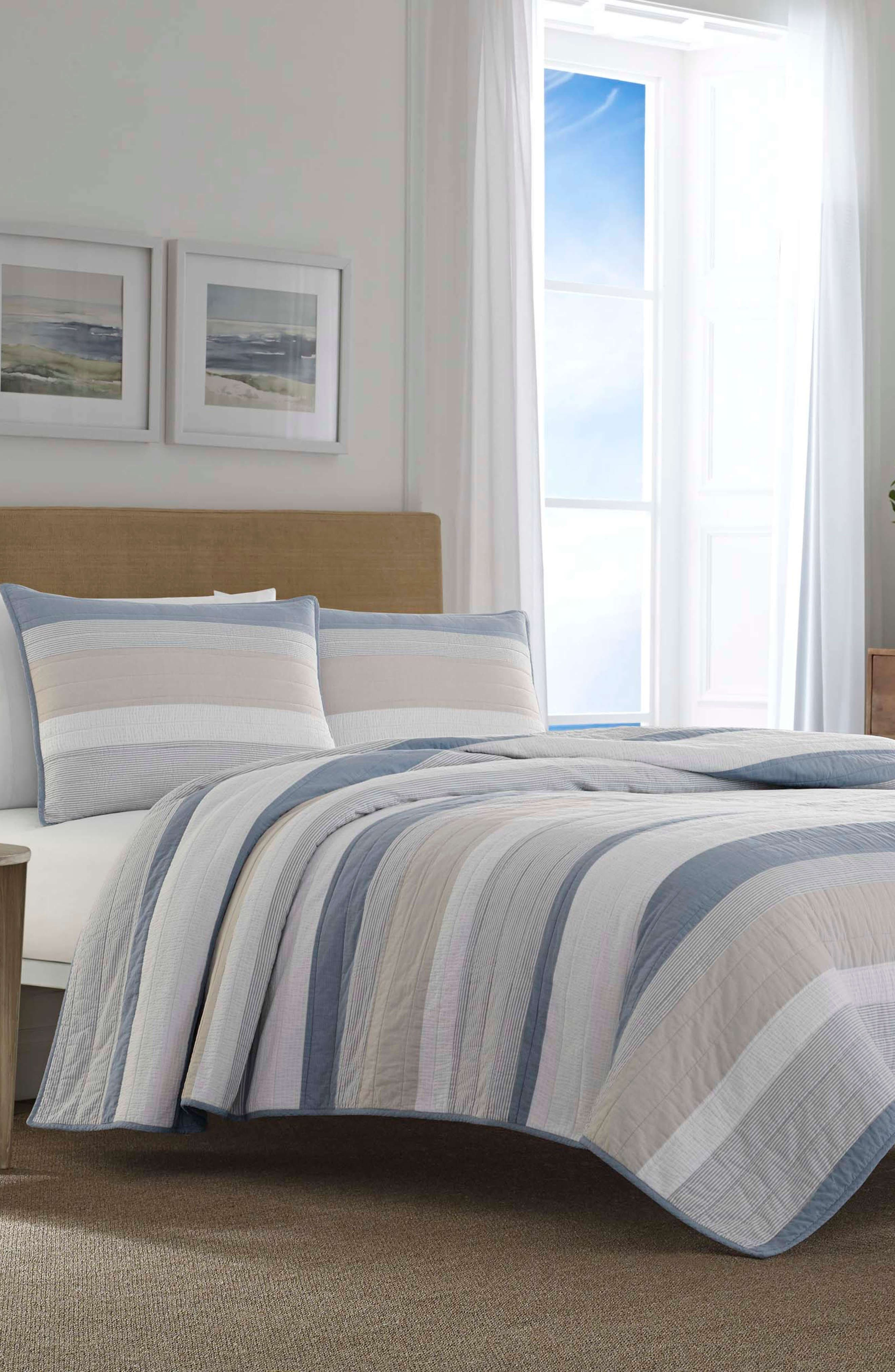 NAUTICA Terry Cove Quilt, Main, color, BEIGE