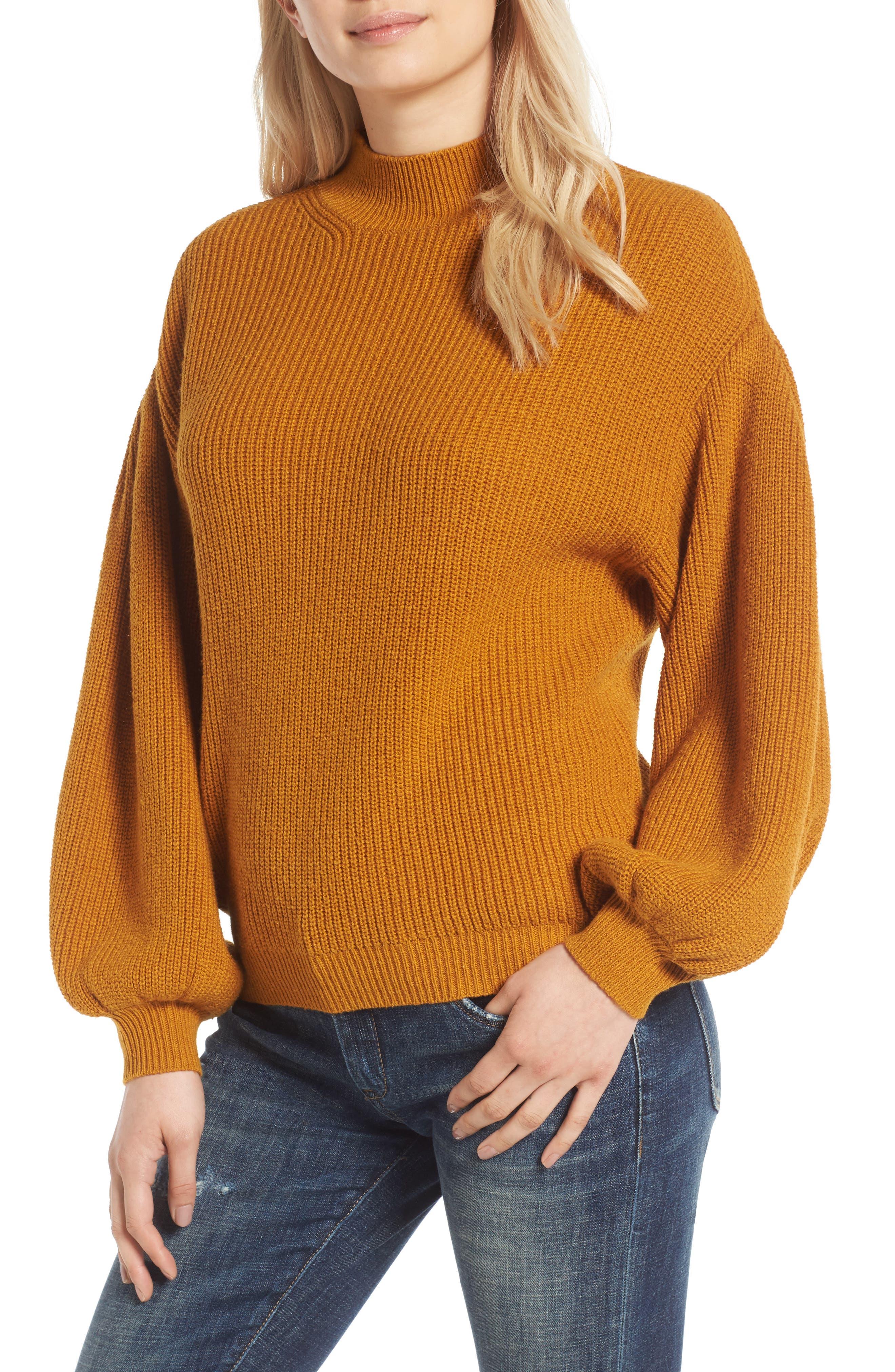 Blouson Sleeve Sweater,                             Main thumbnail 2, color,