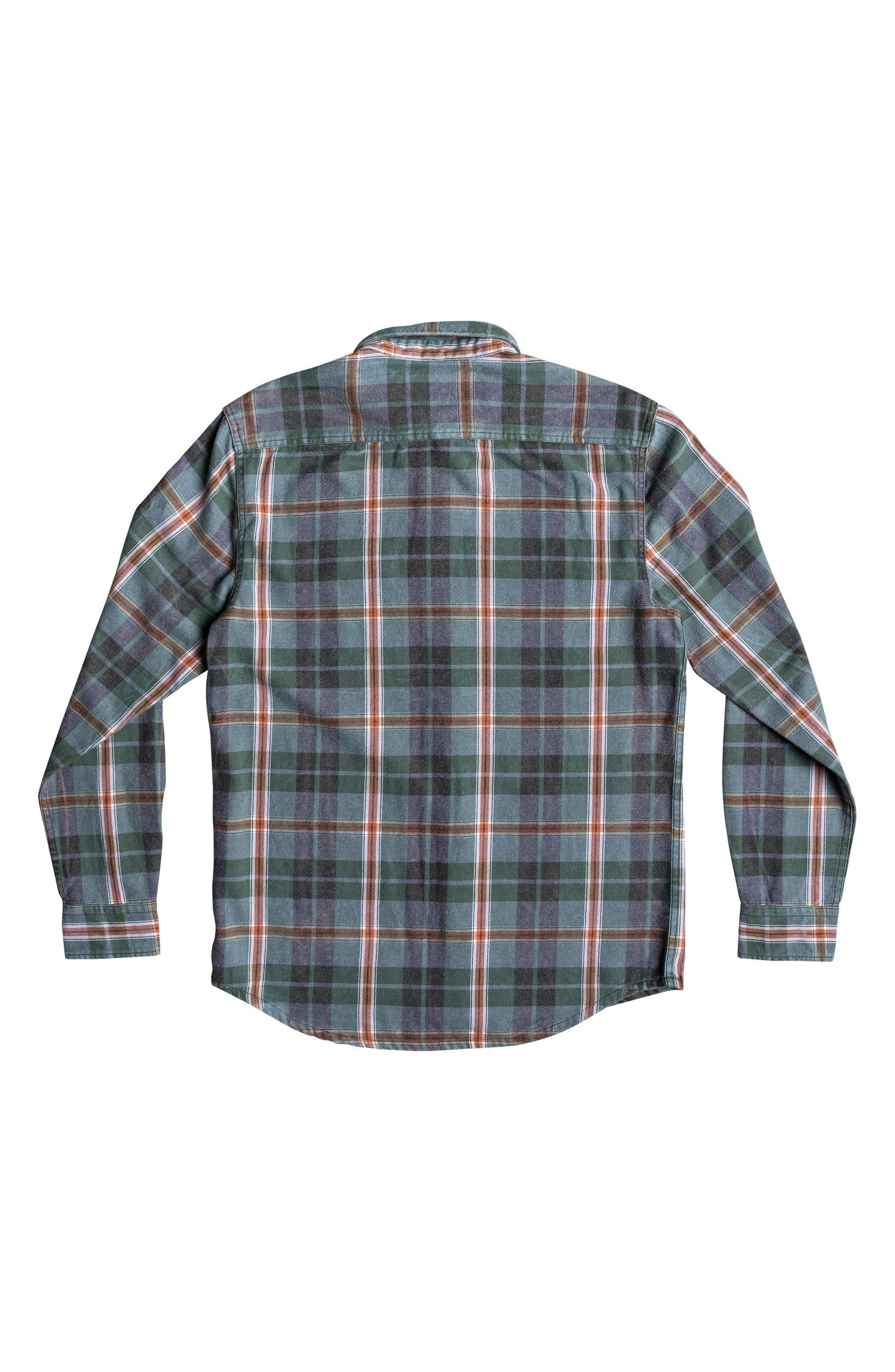Super Tang Flannel Shirt,                             Alternate thumbnail 8, color,                             STONE WASH TANG