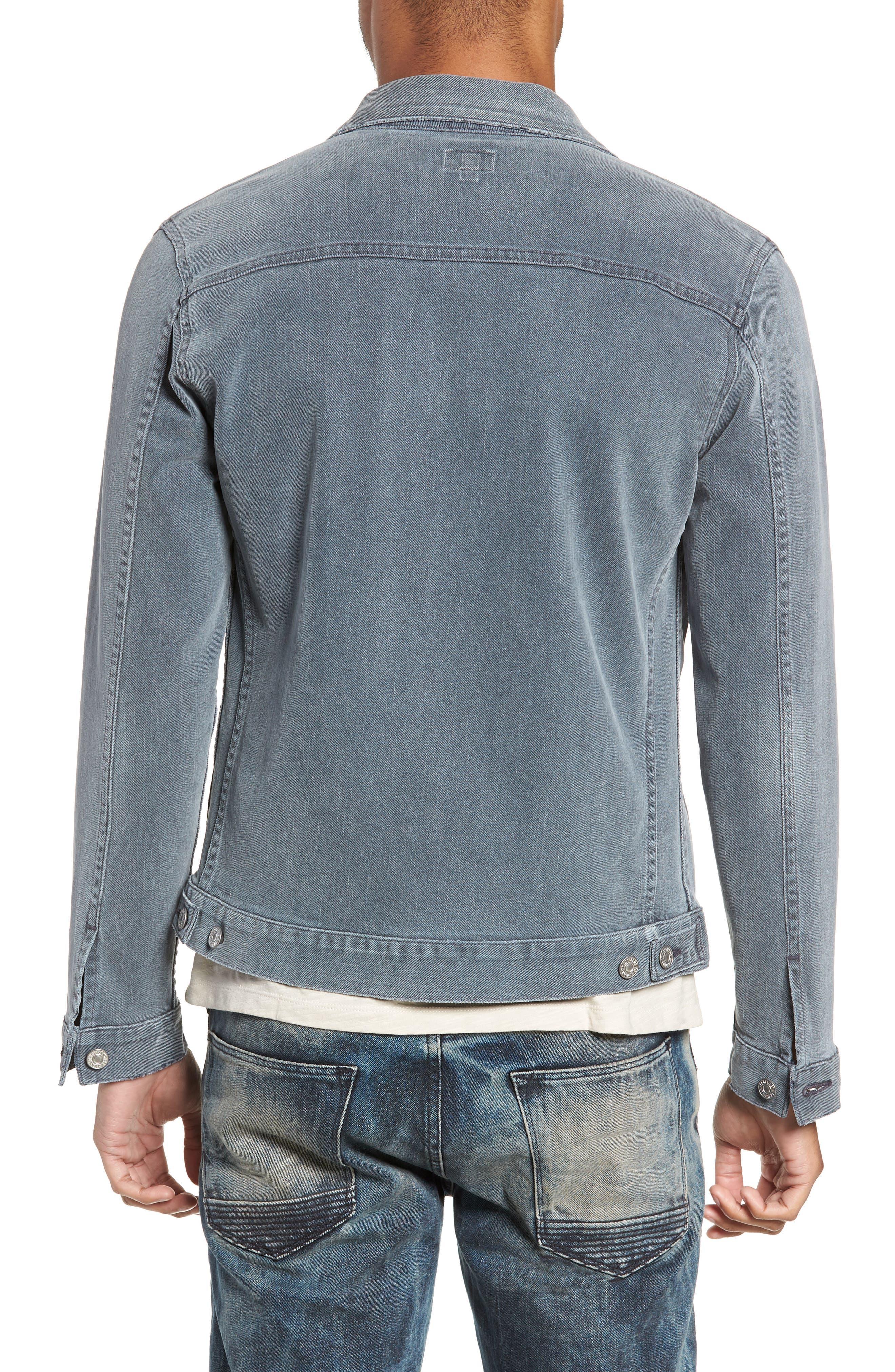 Classic Denim Jacket,                             Alternate thumbnail 2, color,                             VINTAGE GREY