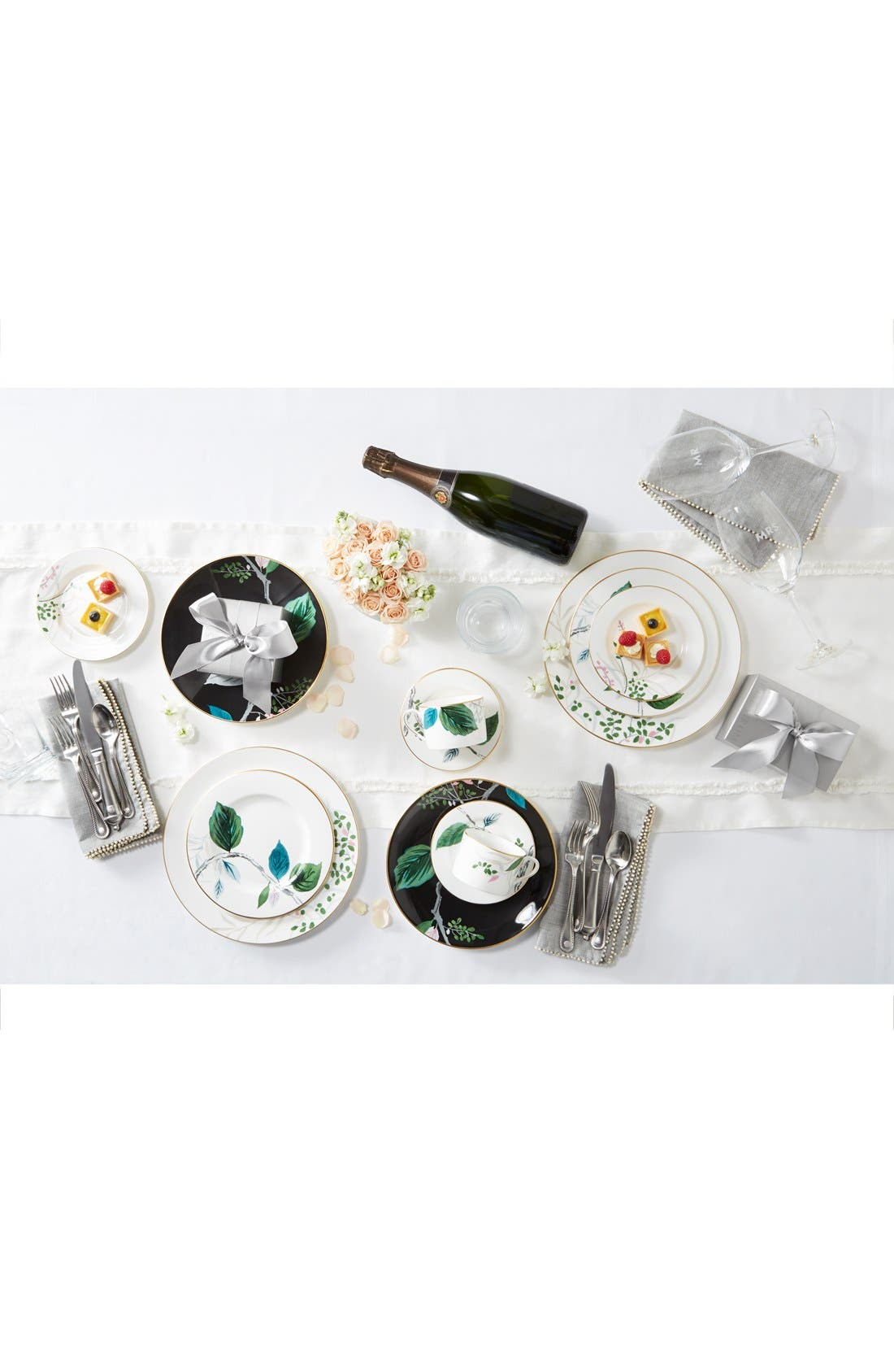 'Berry and Thread' 5-Piece Place Setting,                             Alternate thumbnail 3, color,                             BRIGHT SATIN
