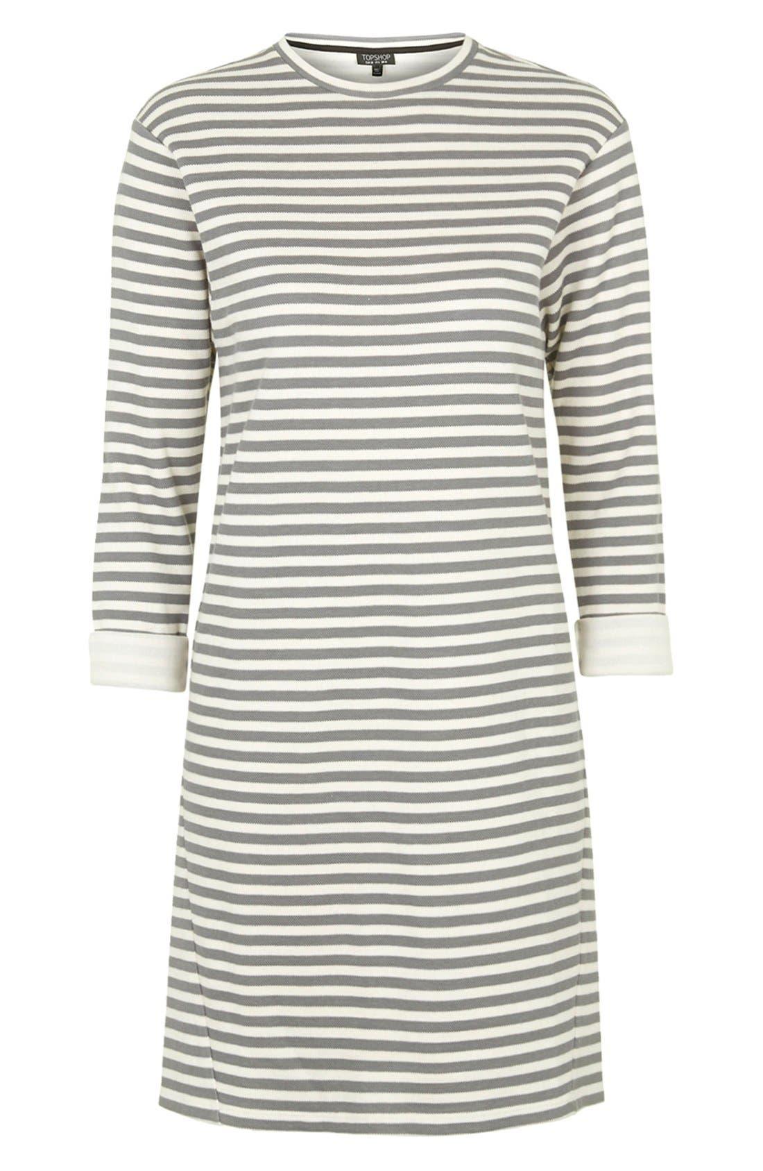 Stripe Sweater Dress,                             Alternate thumbnail 5, color,                             001