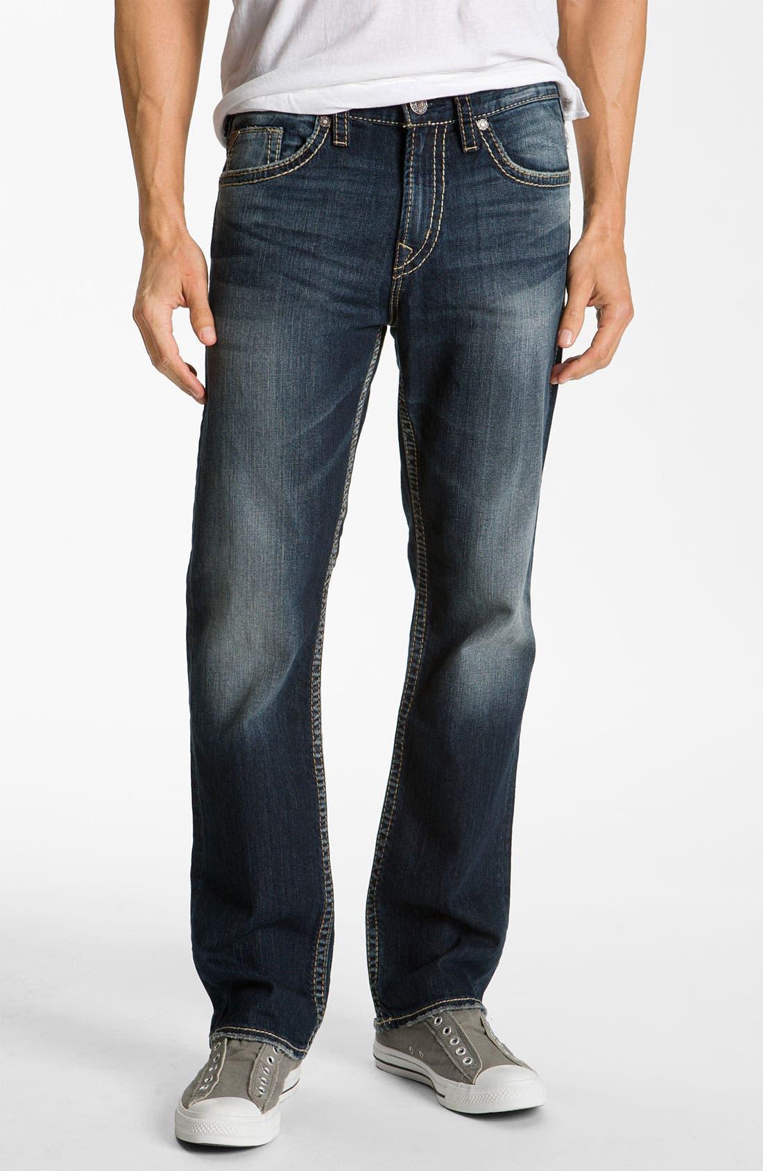 SILVER JEANS CO.,                             'Grayson Heritage' Straight Leg Jeans,                             Alternate thumbnail 4, color,                             401