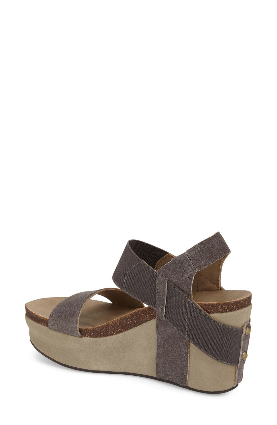 'Bushnell' Wedge Sandal,                             Alternate thumbnail 19, color,