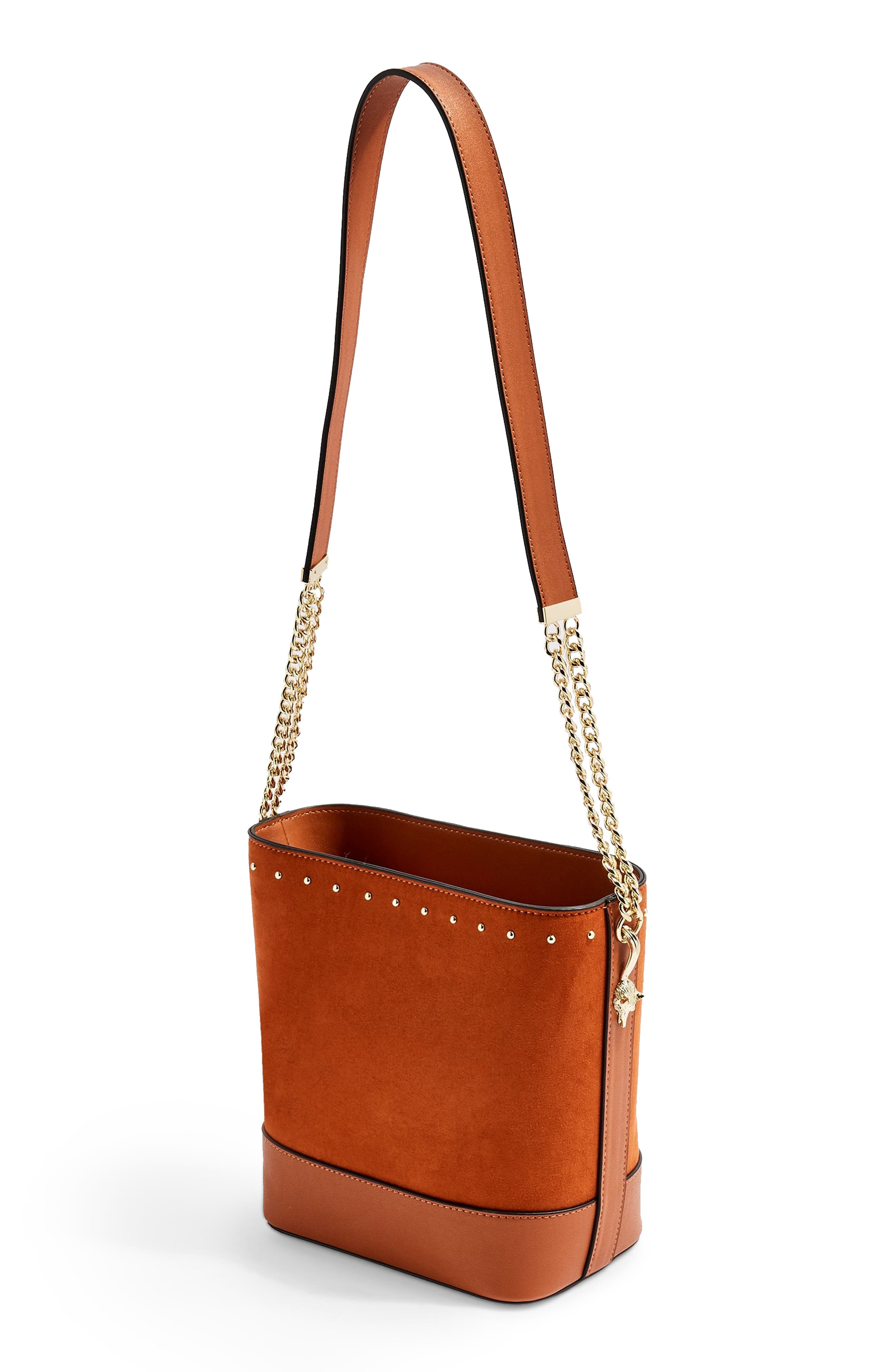 Foxy Bucket Bag,                             Alternate thumbnail 3, color,                             BROWN