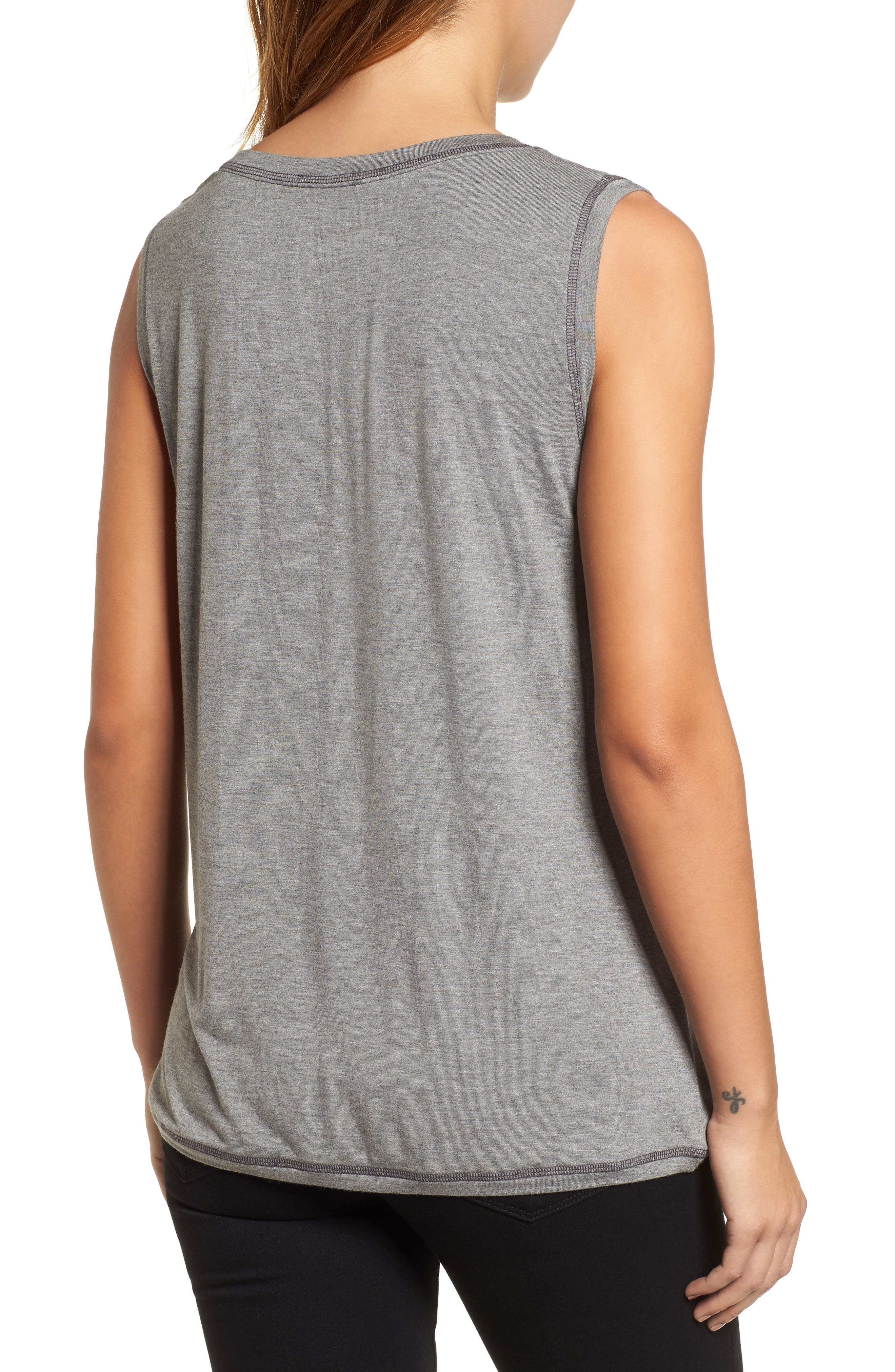 Off-Duty Shirred Sleeveless Tee,                             Alternate thumbnail 7, color,