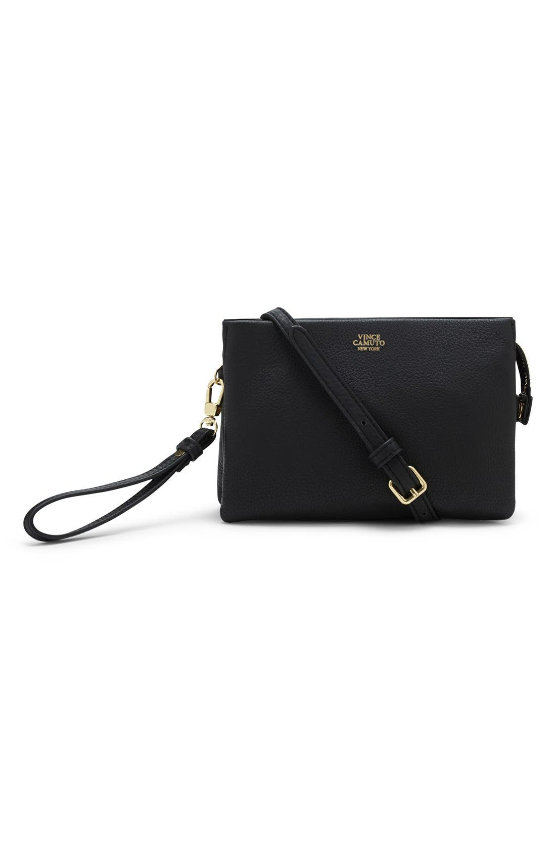 'Cami' Leather Crossbody Bag,                             Main thumbnail 1, color,