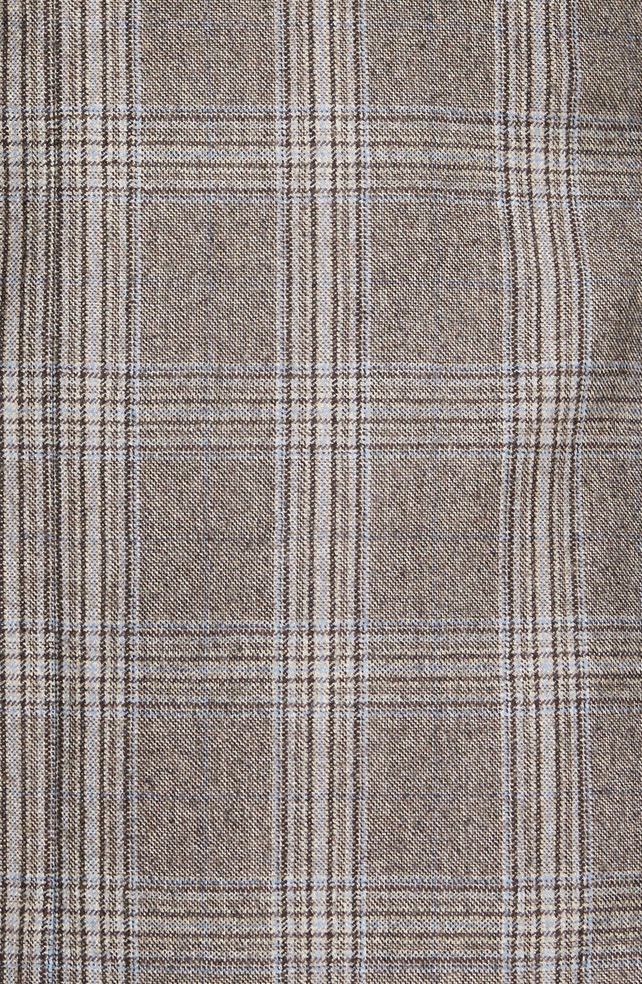 Jay Trim Fit Plaid Wool Sport Coat,                             Alternate thumbnail 6, color,                             230
