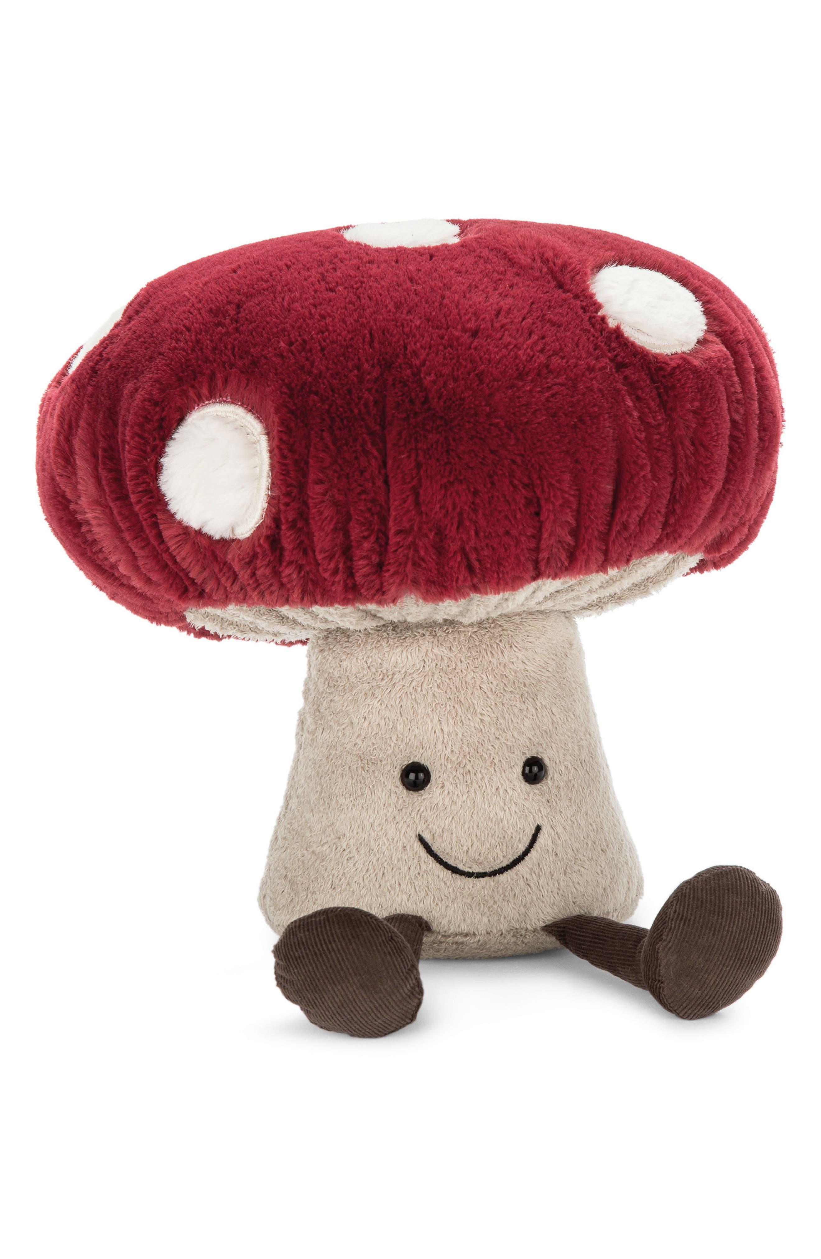 Amuseable Mushroom Plush Toy,                             Main thumbnail 1, color,                             600