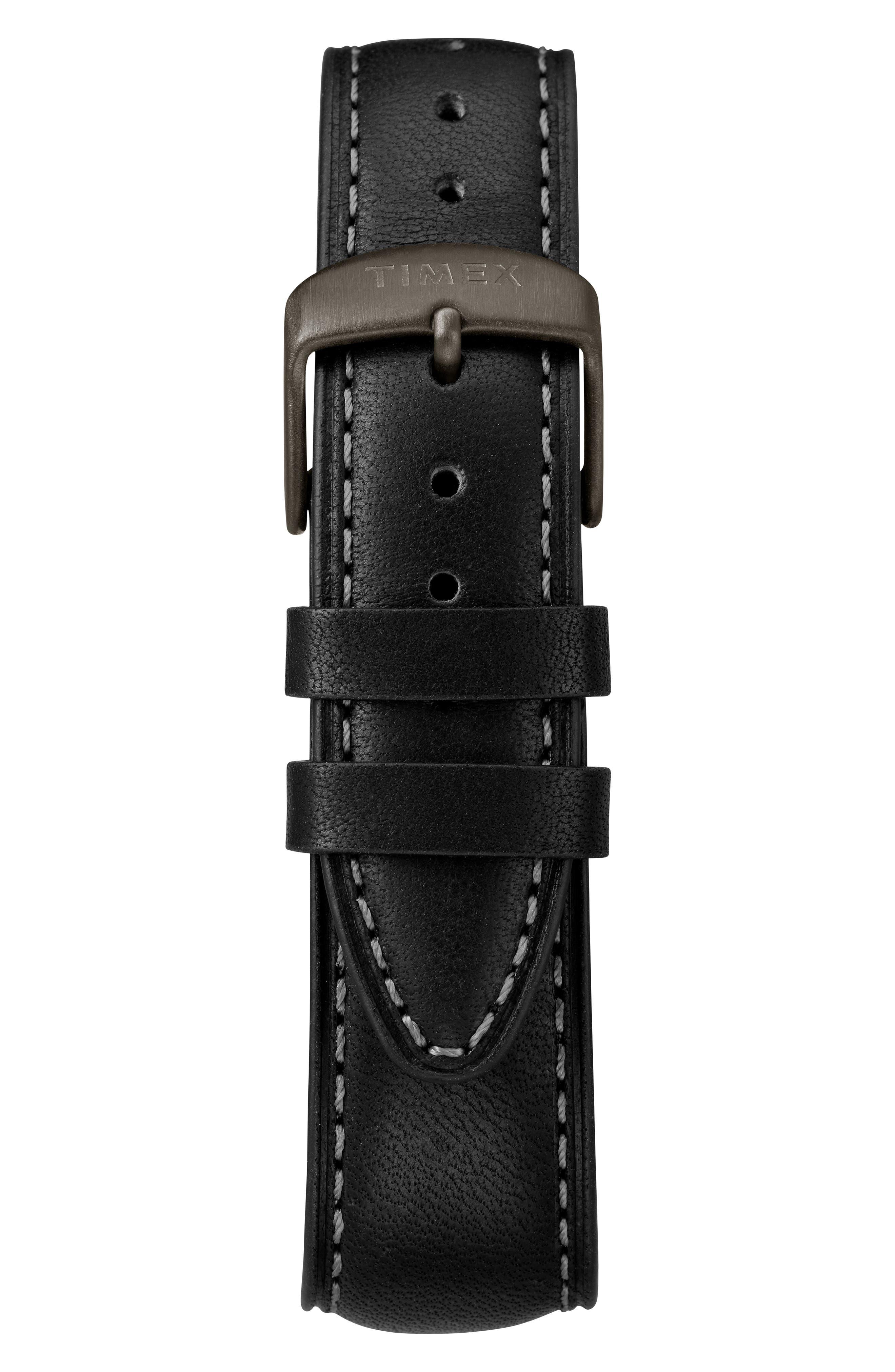 Waterbury Chronograph Bracelet Watch, 42mm,                             Alternate thumbnail 3, color,                             BLACK/ GUNMETAL