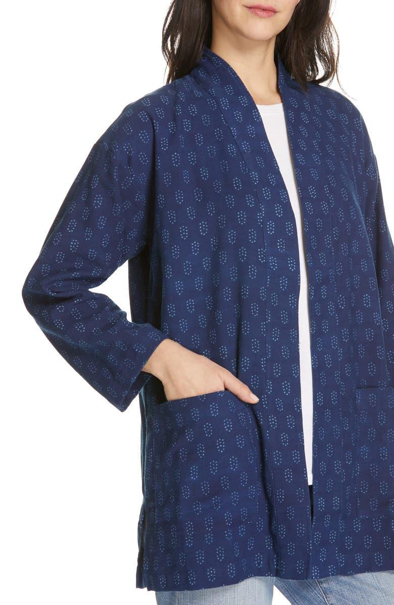 EILEEN FISHER Organic Cotton Kimono Jacket, Alternate, color, DENIM