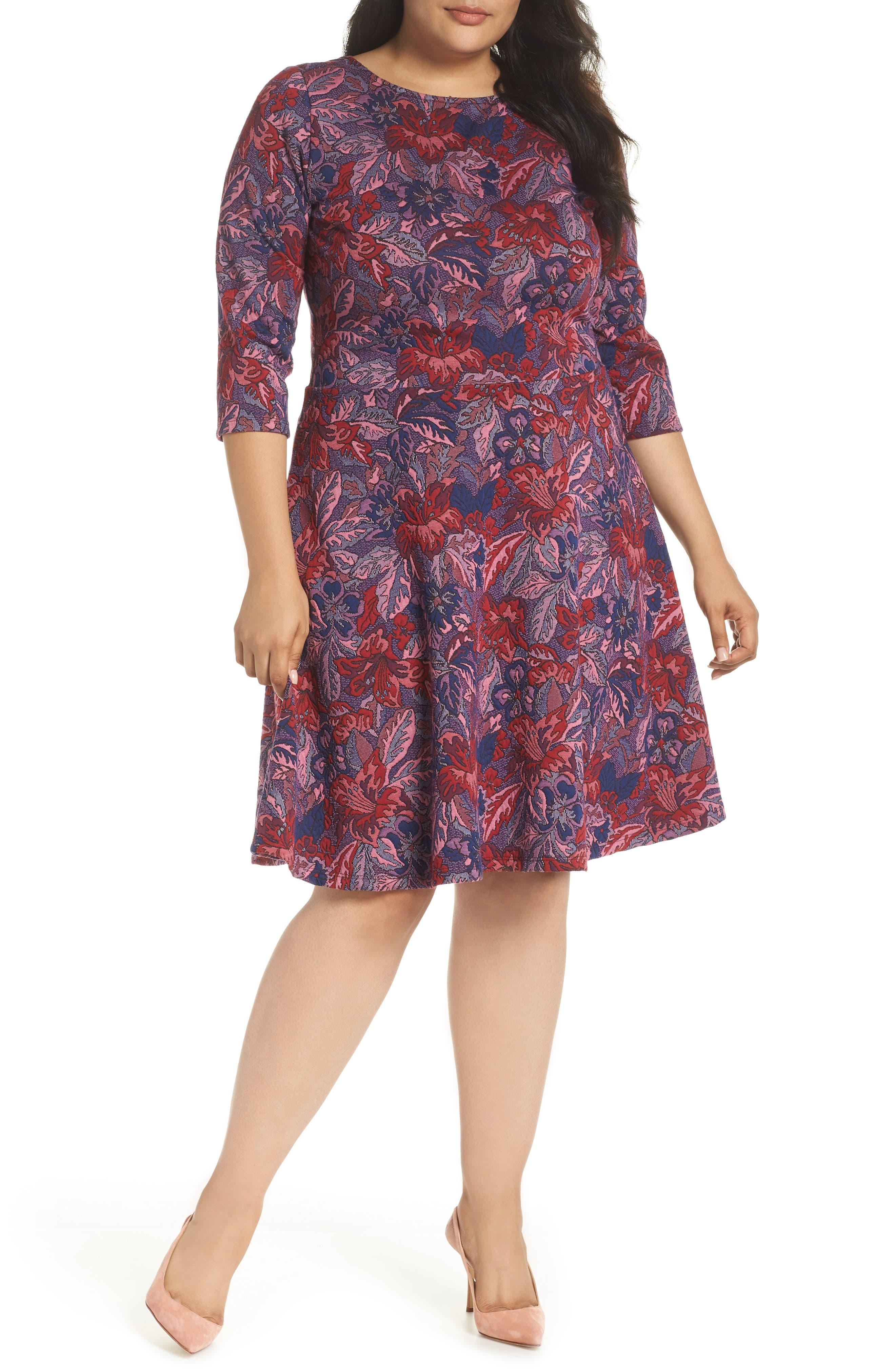 LEOTA Llana Stretch Jersey Dress in Tapestry Jacquard