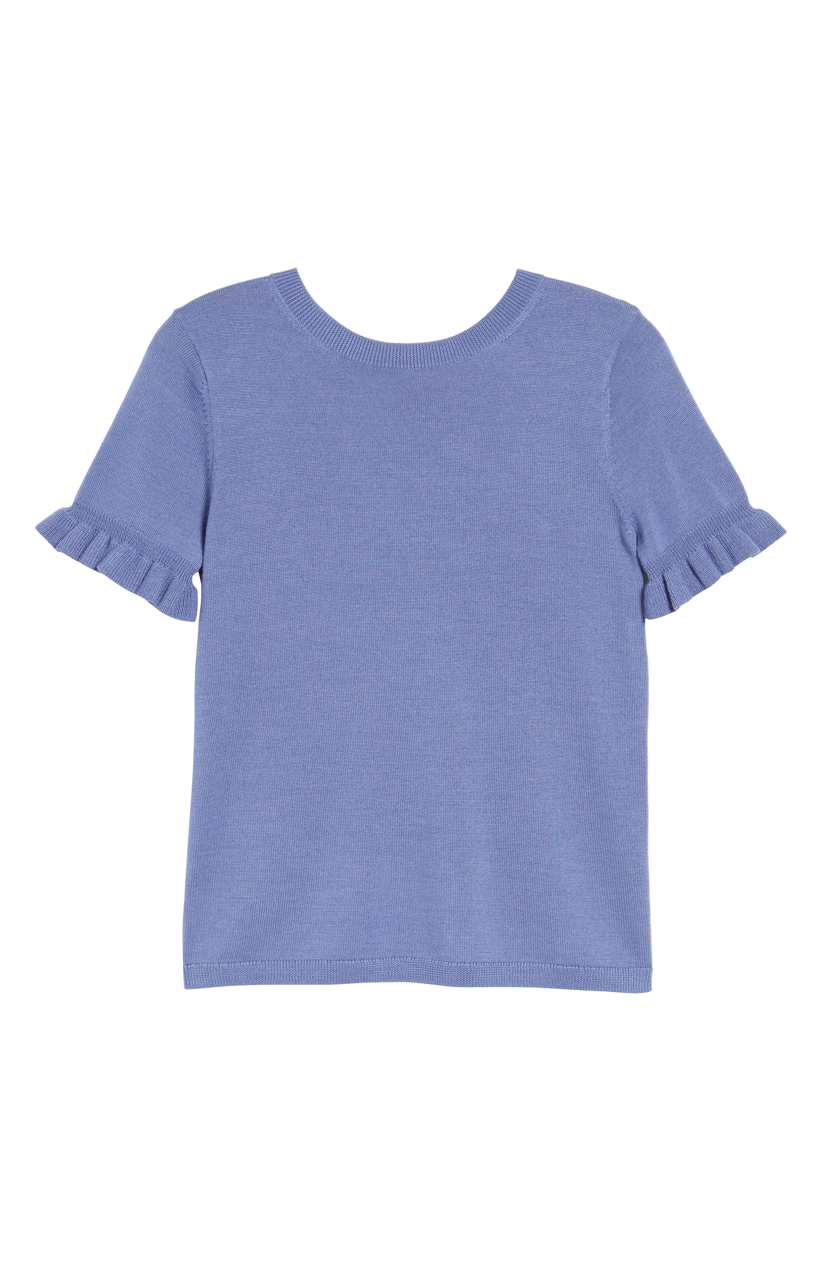 Tie Back Merino Wool & Silk Sweater,                             Alternate thumbnail 12, color,