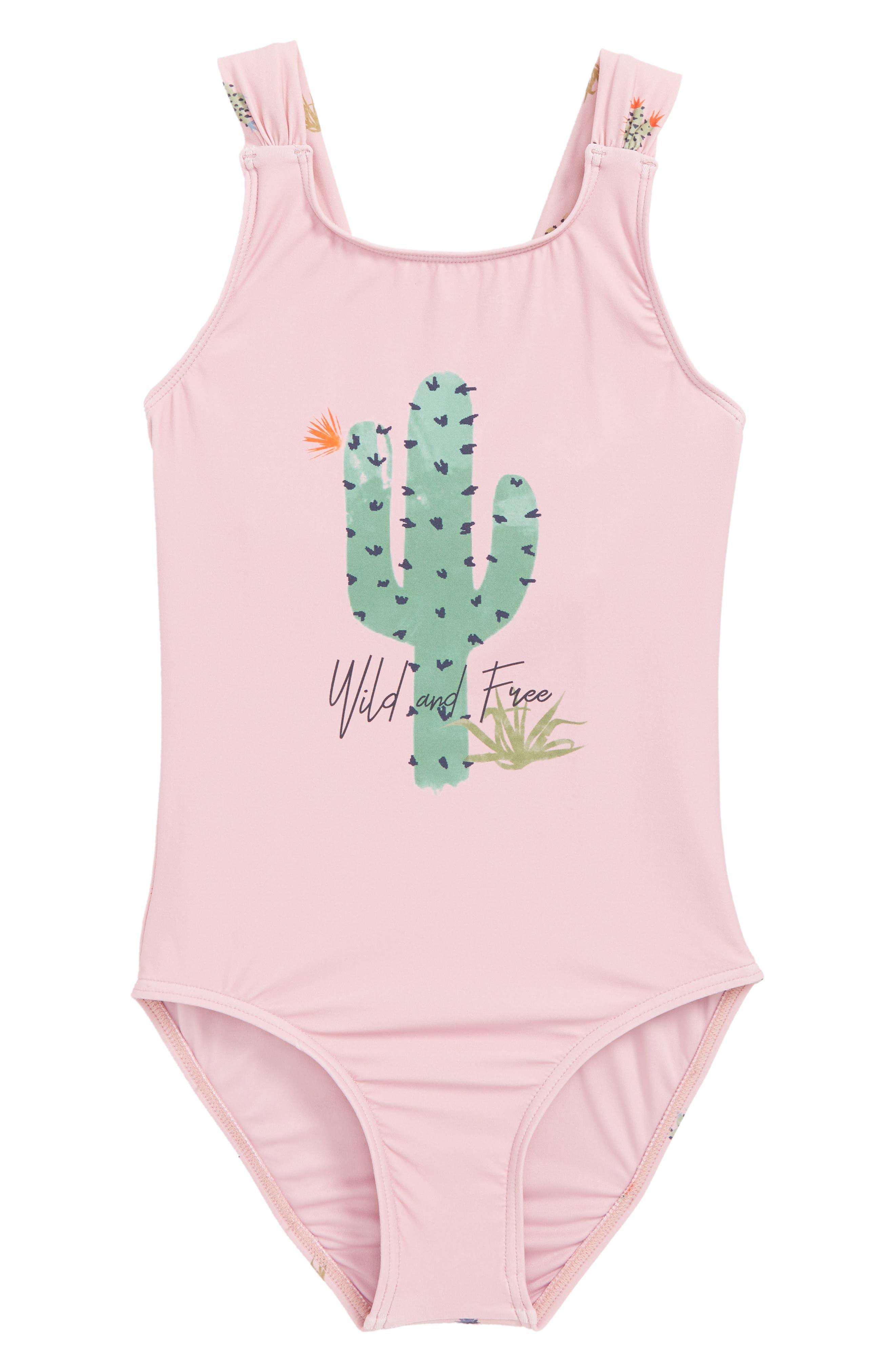Cacti One-Piece Swimsuit,                             Main thumbnail 1, color,                             650