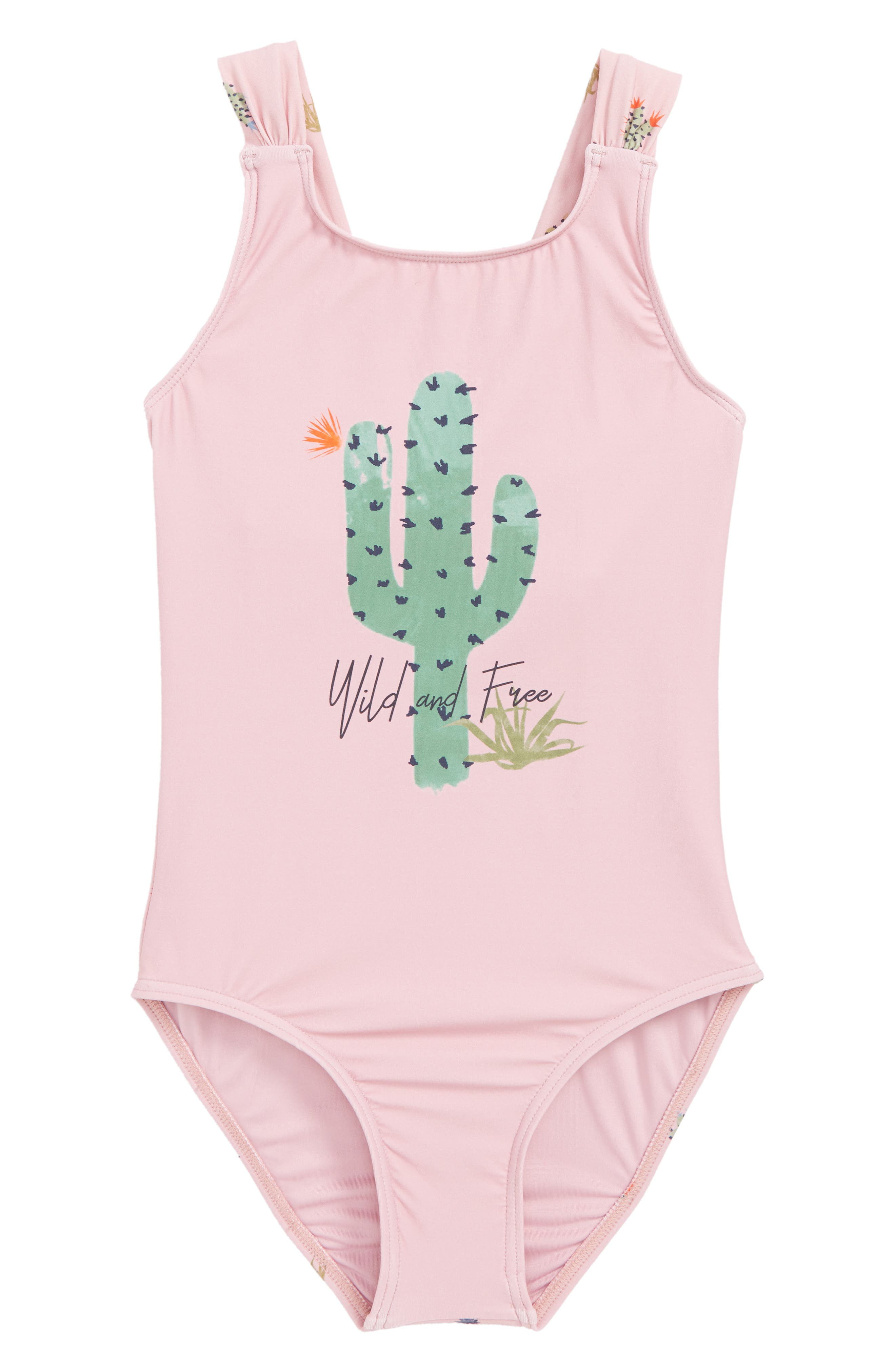 Cacti One-Piece Swimsuit,                         Main,                         color, 650